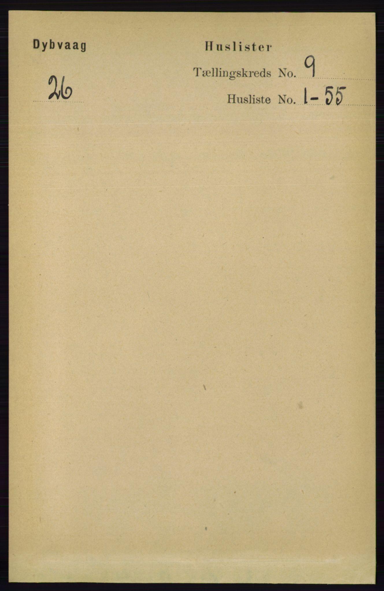 RA, Folketelling 1891 for 0915 Dypvåg herred, 1891, s. 3220