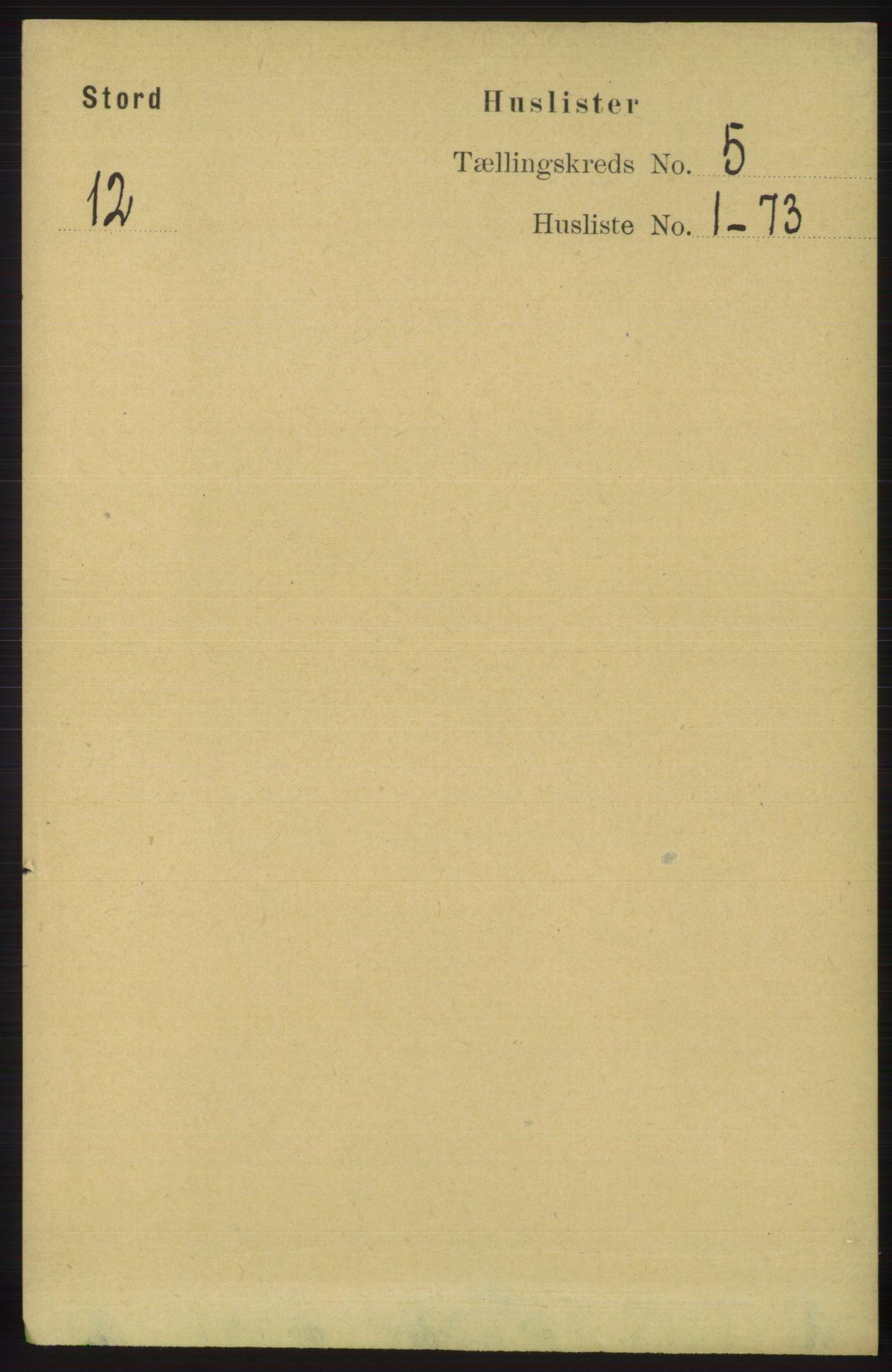 RA, Folketelling 1891 for 1221 Stord herred, 1891, s. 1581