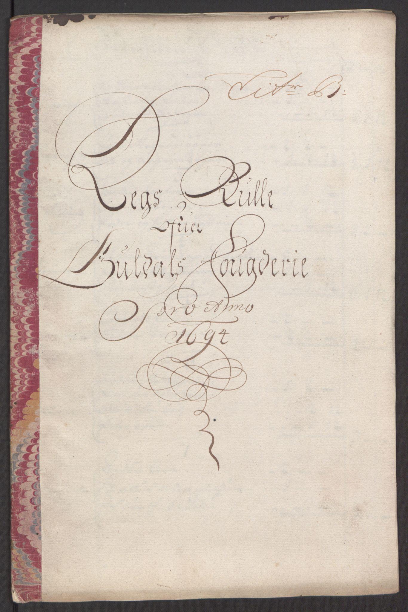 RA, Rentekammeret inntil 1814, Reviderte regnskaper, Fogderegnskap, R60/L3944: Fogderegnskap Orkdal og Gauldal, 1694, s. 316