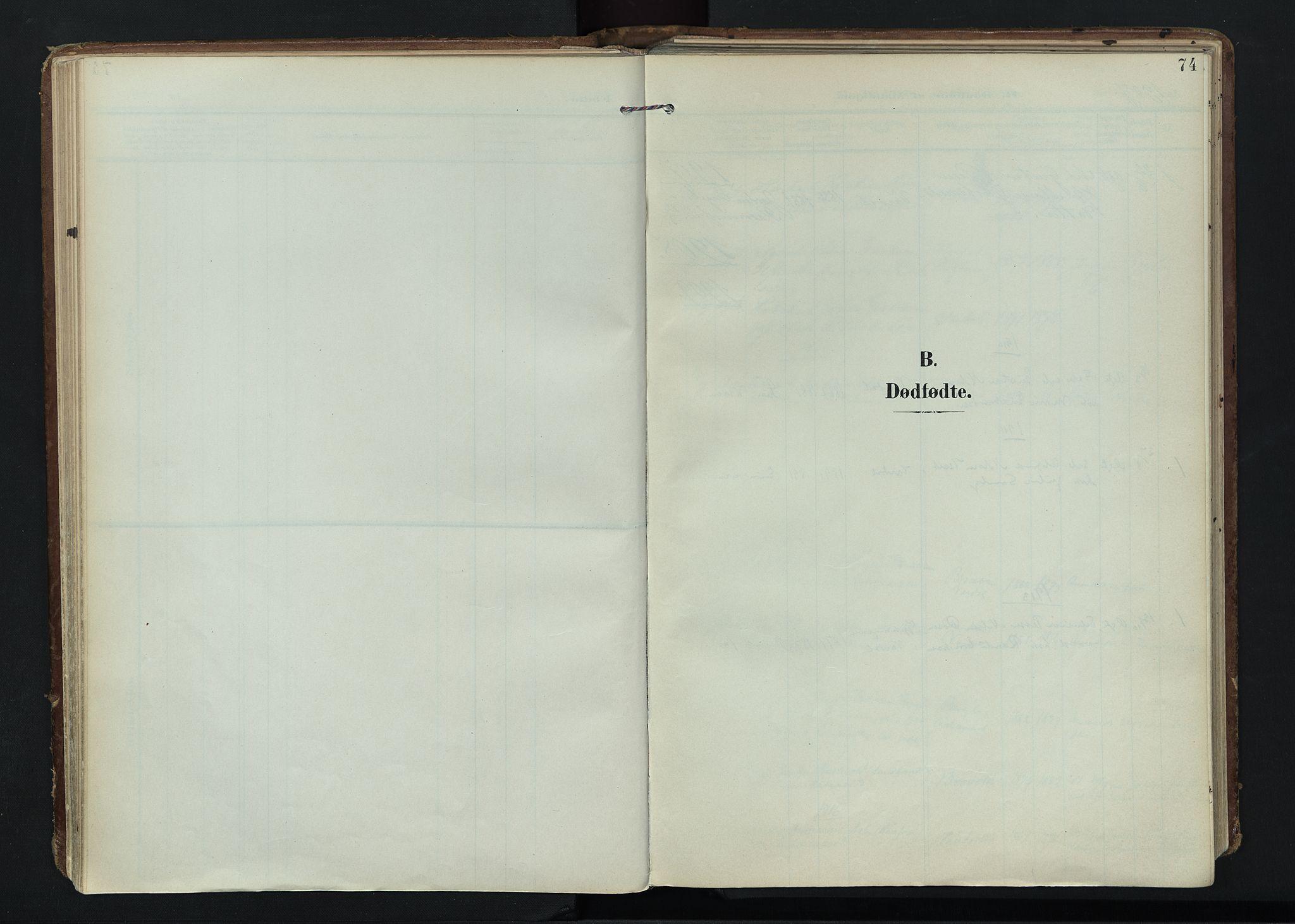 SAH, Vardal prestekontor, H/Ha/Haa/L0020: Ministerialbok nr. 20, 1907-1921, s. 74