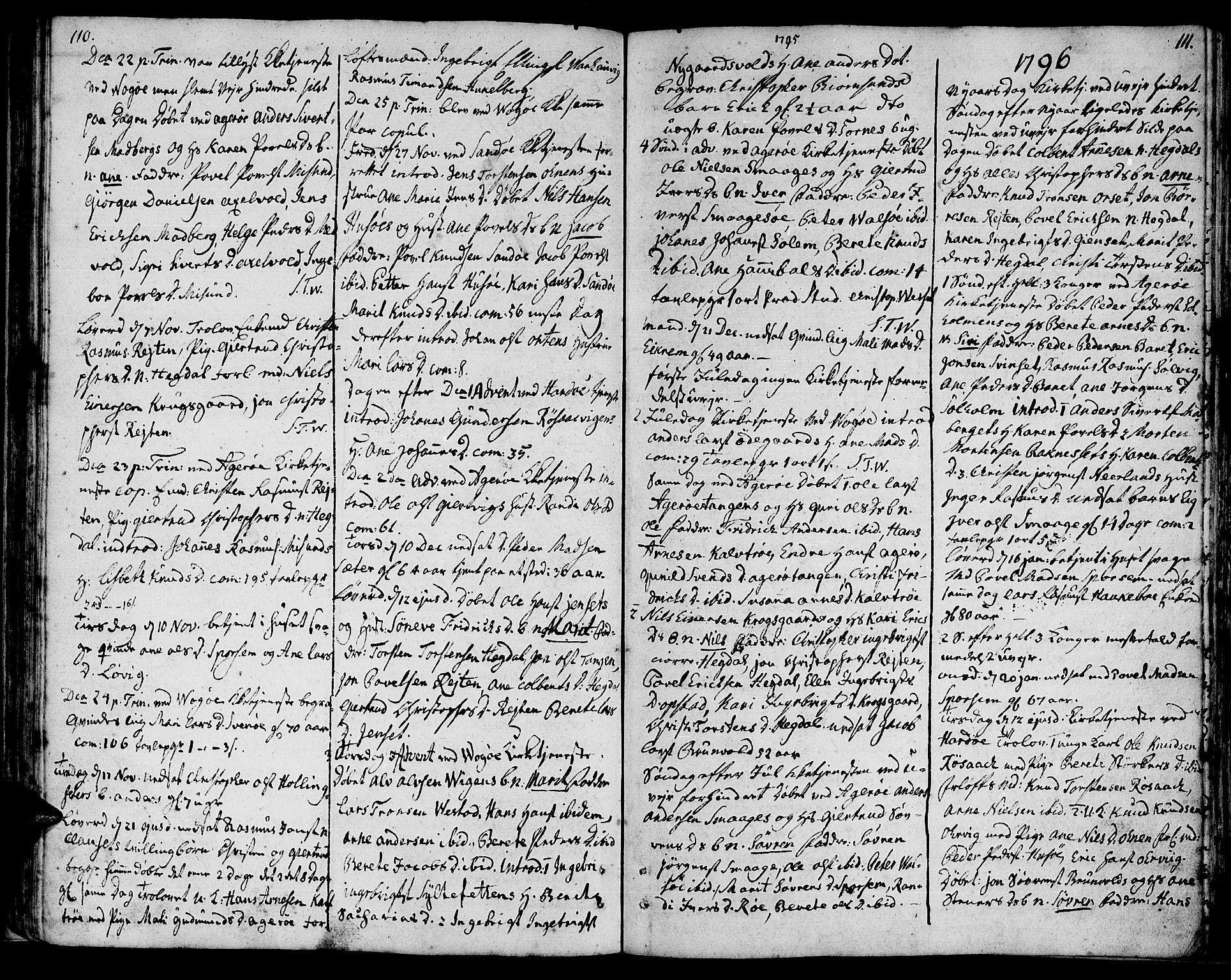 SAT, Ministerialprotokoller, klokkerbøker og fødselsregistre - Møre og Romsdal, 560/L0717: Ministerialbok nr. 560A01, 1785-1808, s. 110-111