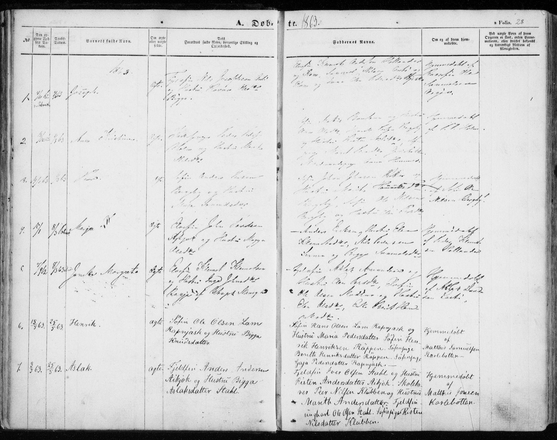 SATØ, Nesseby sokneprestkontor, H/Ha/L0002kirke: Ministerialbok nr. 2, 1856-1864, s. 28