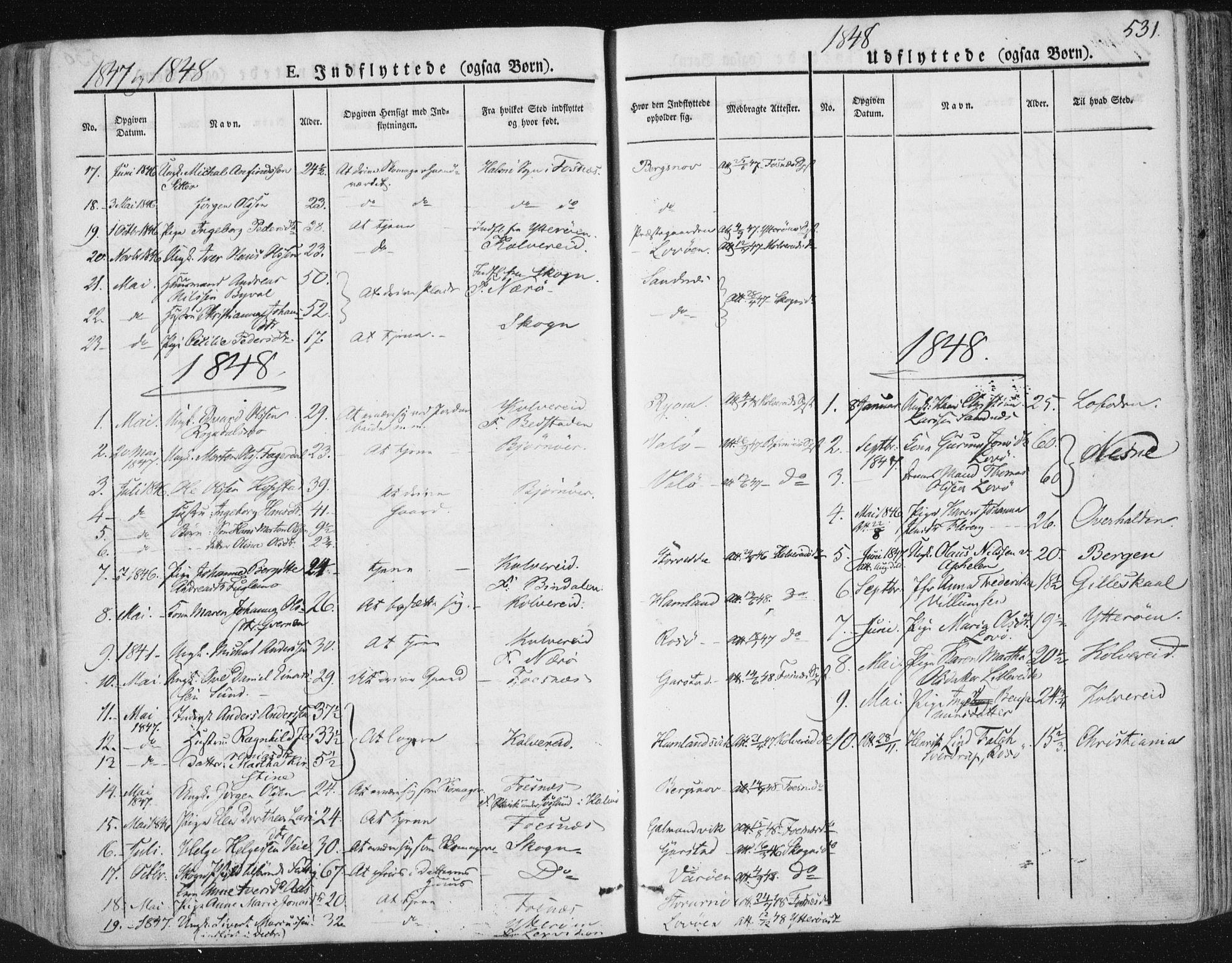 SAT, Ministerialprotokoller, klokkerbøker og fødselsregistre - Nord-Trøndelag, 784/L0669: Ministerialbok nr. 784A04, 1829-1859, s. 531