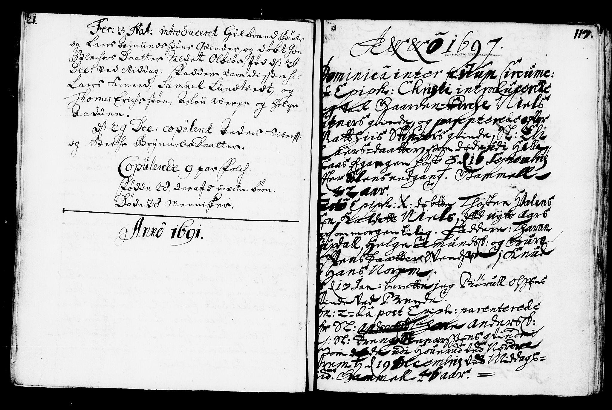 SAKO, Bø kirkebøker, F/Fa/L0001: Ministerialbok nr. 1, 1689-1699, s. 21-113
