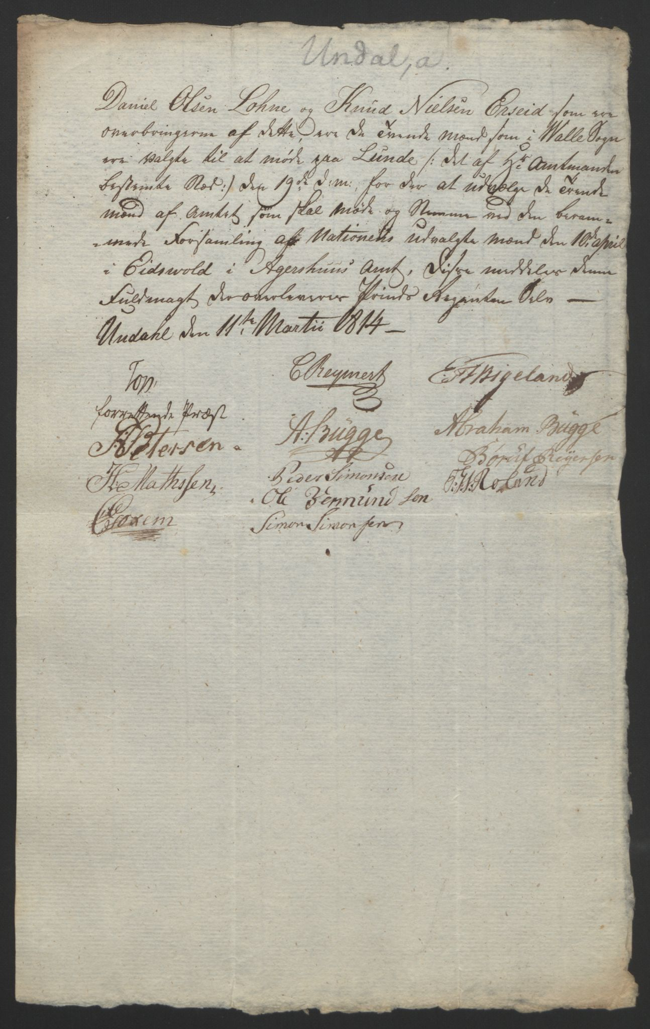 RA, Statsrådssekretariatet, D/Db/L0008: Fullmakter for Eidsvollsrepresentantene i 1814. , 1814, s. 137
