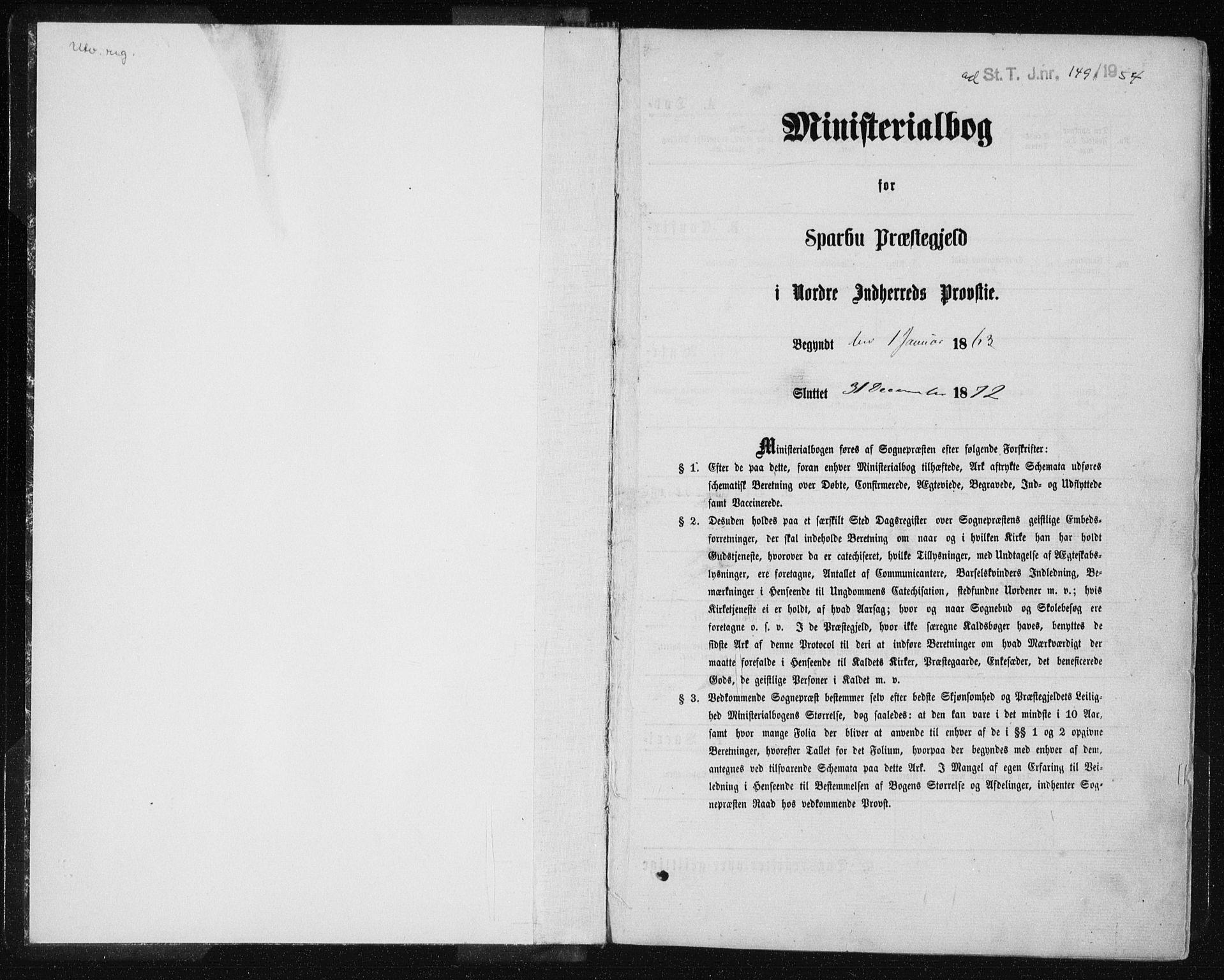 SAT, Ministerialprotokoller, klokkerbøker og fødselsregistre - Nord-Trøndelag, 735/L0345: Ministerialbok nr. 735A08 /2, 1863-1872