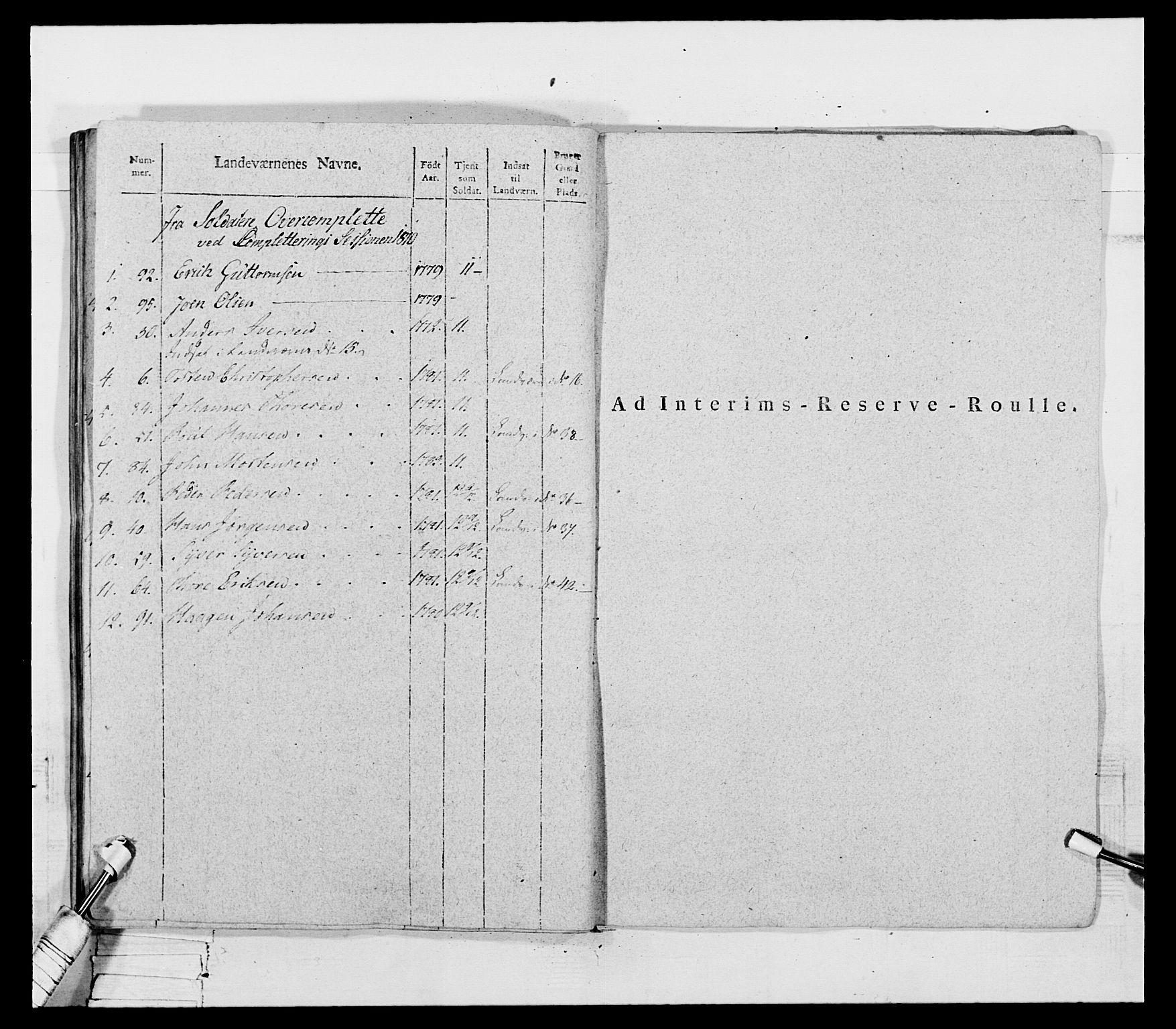 RA, Generalitets- og kommissariatskollegiet, Det kongelige norske kommissariatskollegium, E/Eh/L0069: Opplandske gevorbne infanteriregiment, 1810-1818, s. 304