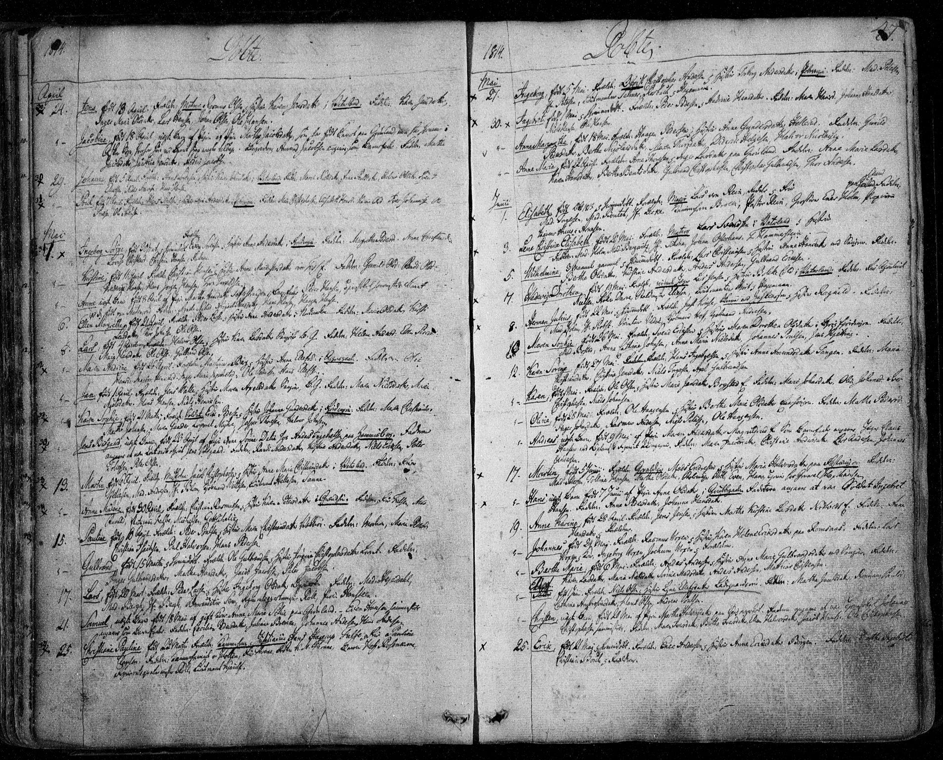 SAO, Aker prestekontor kirkebøker, F/L0011: Ministerialbok nr. 11, 1810-1819, s. 47