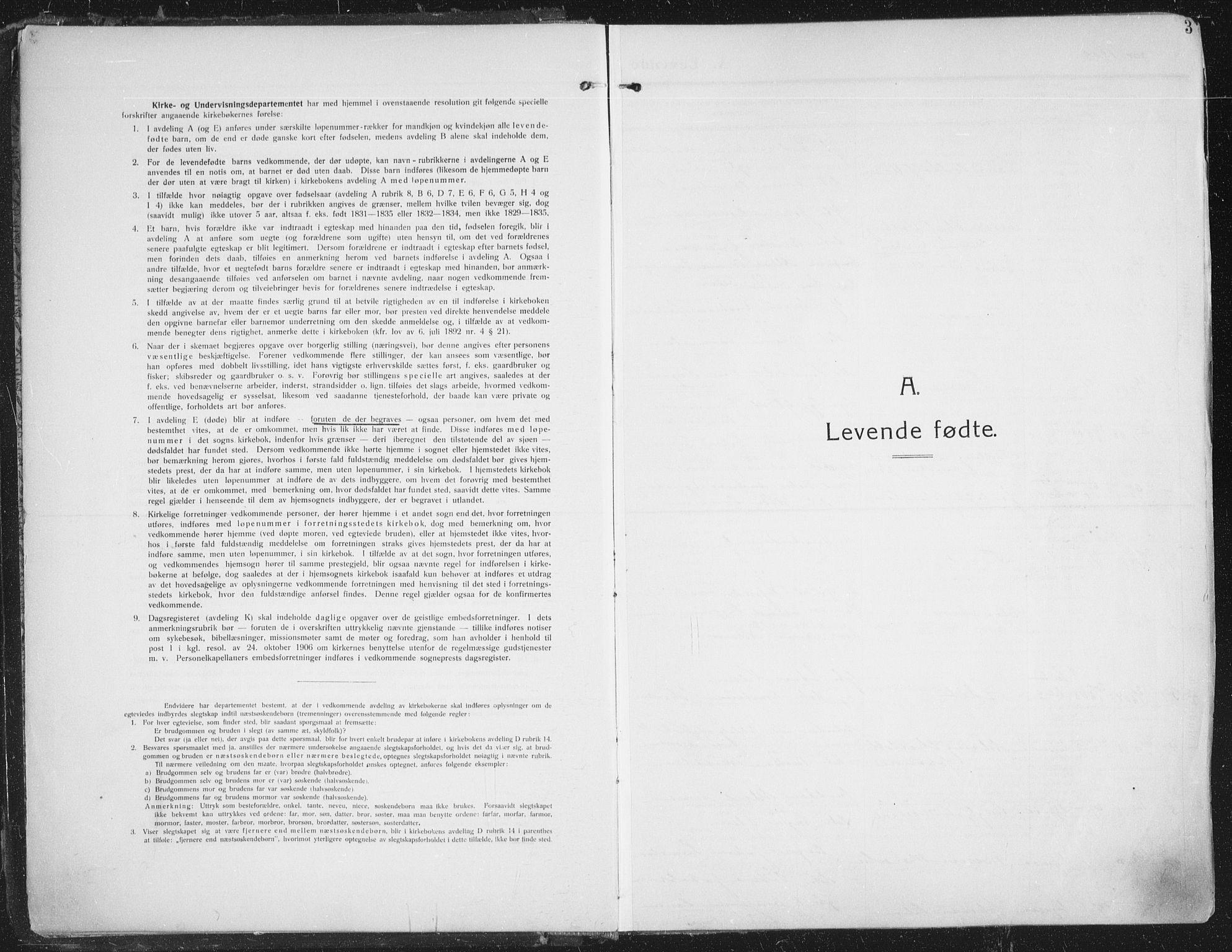 SATØ, Trondenes sokneprestkontor, H/Ha/L0018kirke: Ministerialbok nr. 18, 1909-1918, s. 3