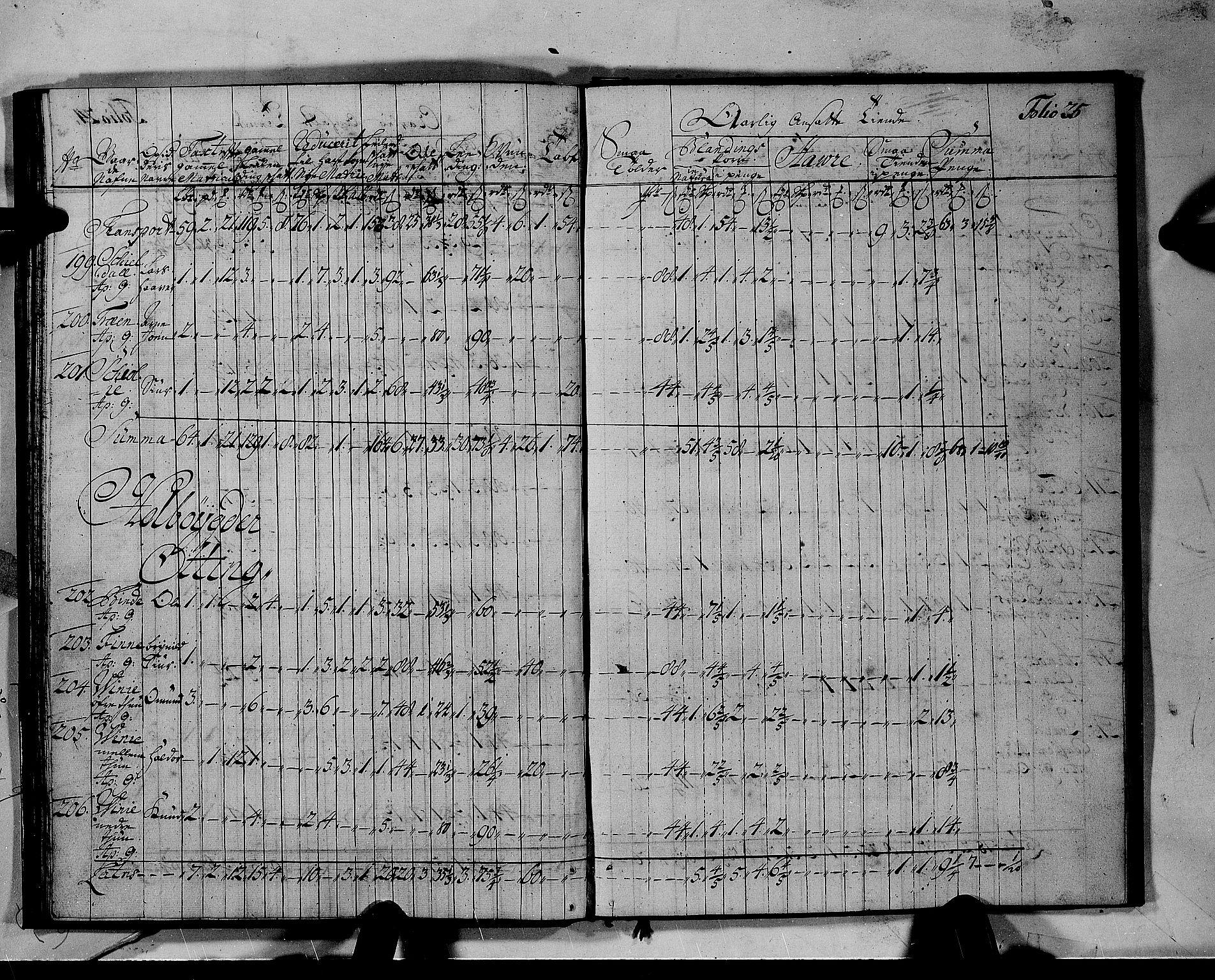 RA, Rentekammeret inntil 1814, Realistisk ordnet avdeling, N/Nb/Nbf/L0142: Voss matrikkelprotokoll, 1723, s. 24b-25a