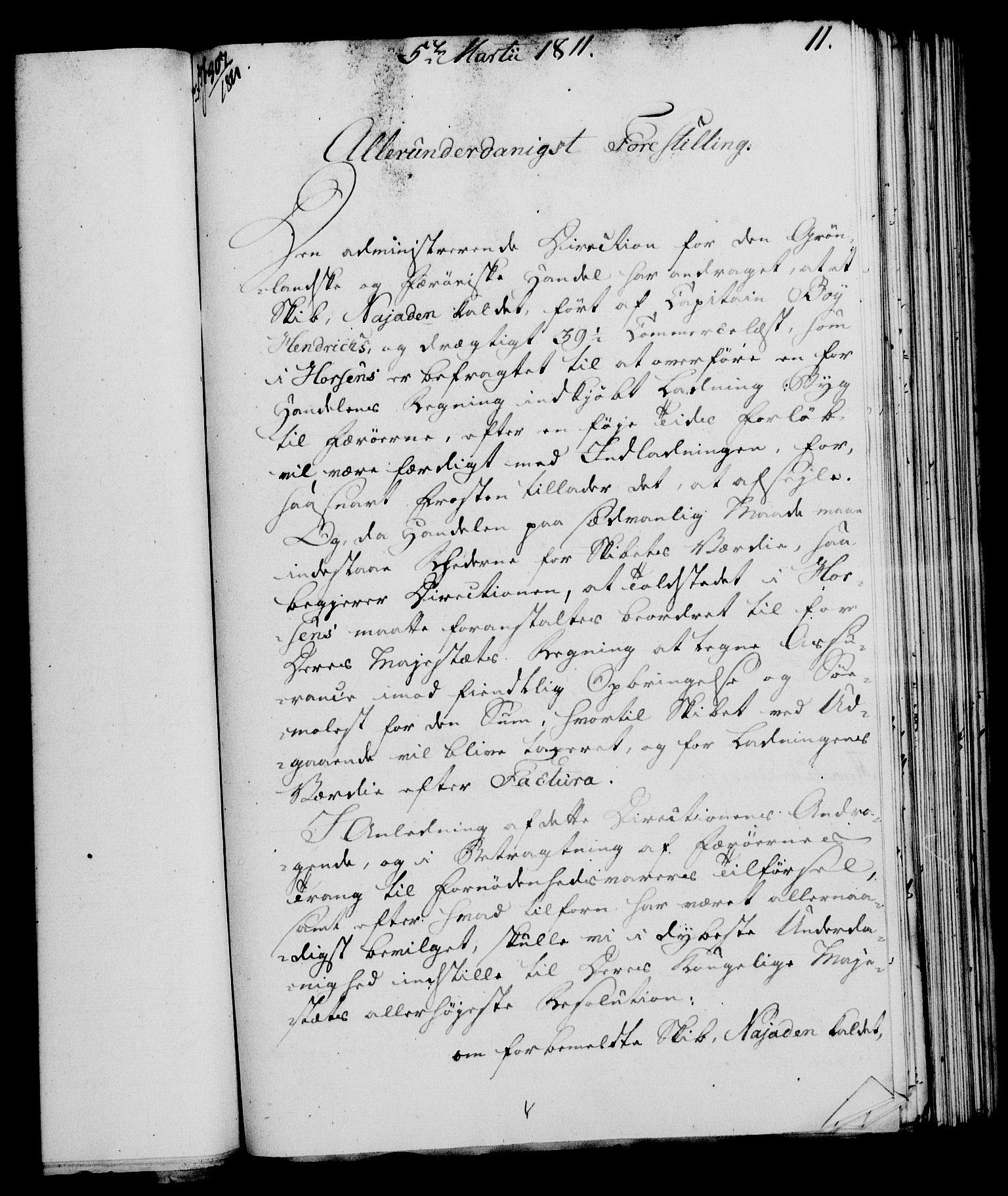 RA, Rentekammeret, Kammerkanselliet, G/Gf/Gfa/L0093: Norsk relasjons- og resolusjonsprotokoll (merket RK 52.93), 1811, s. 58