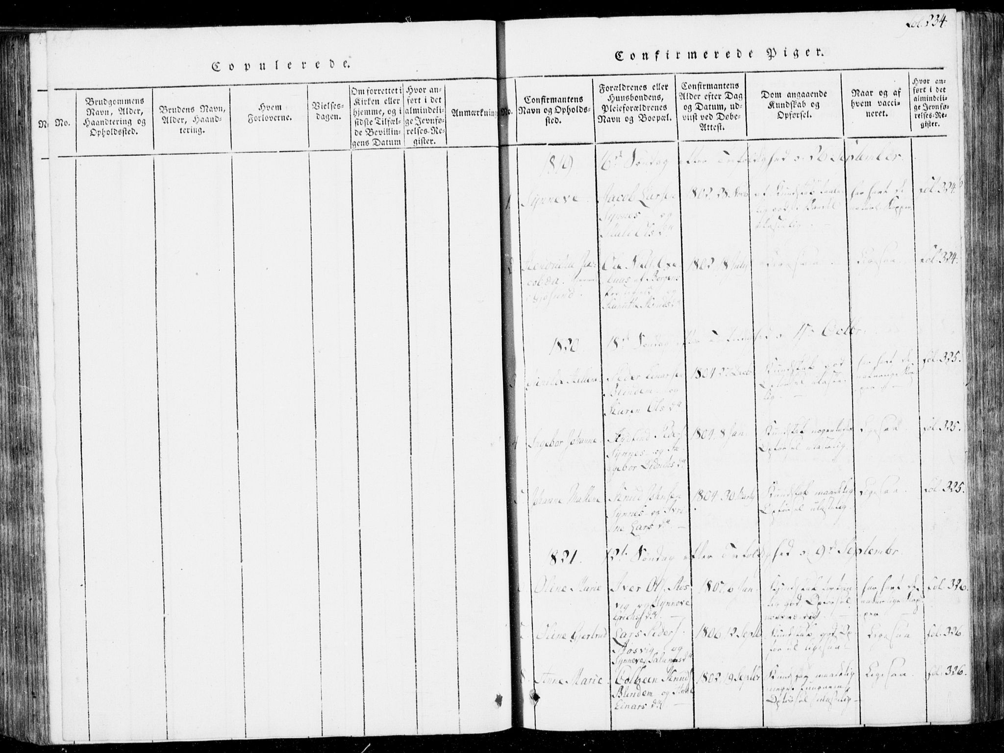 SAT, Ministerialprotokoller, klokkerbøker og fødselsregistre - Møre og Romsdal, 537/L0517: Ministerialbok nr. 537A01, 1818-1862, s. 234