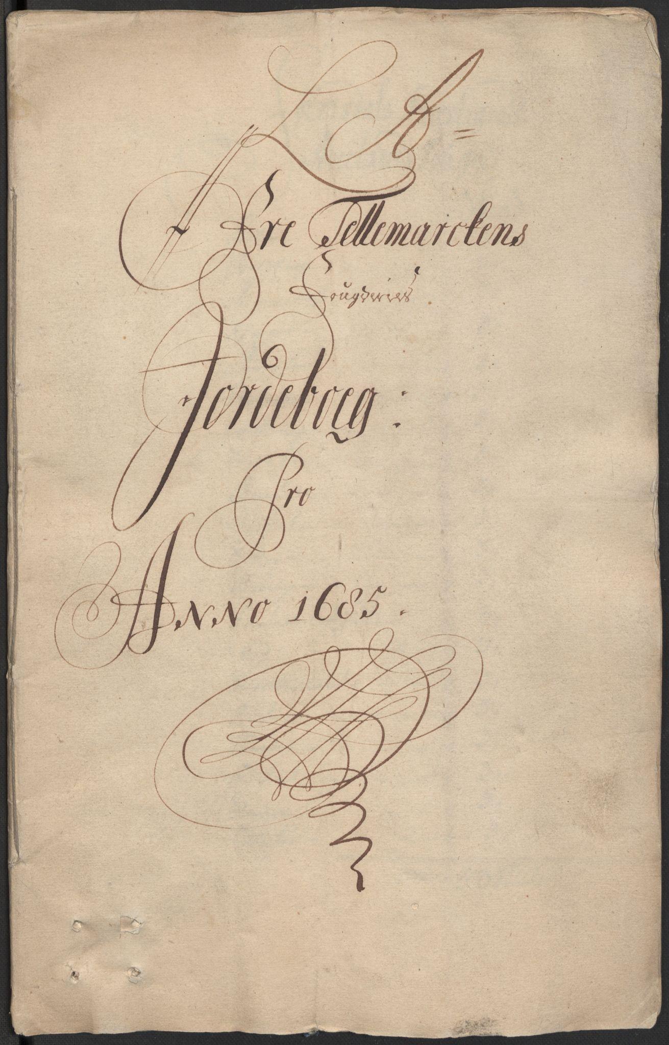 RA, Rentekammeret inntil 1814, Reviderte regnskaper, Fogderegnskap, R35/L2082: Fogderegnskap Øvre og Nedre Telemark, 1685, s. 9