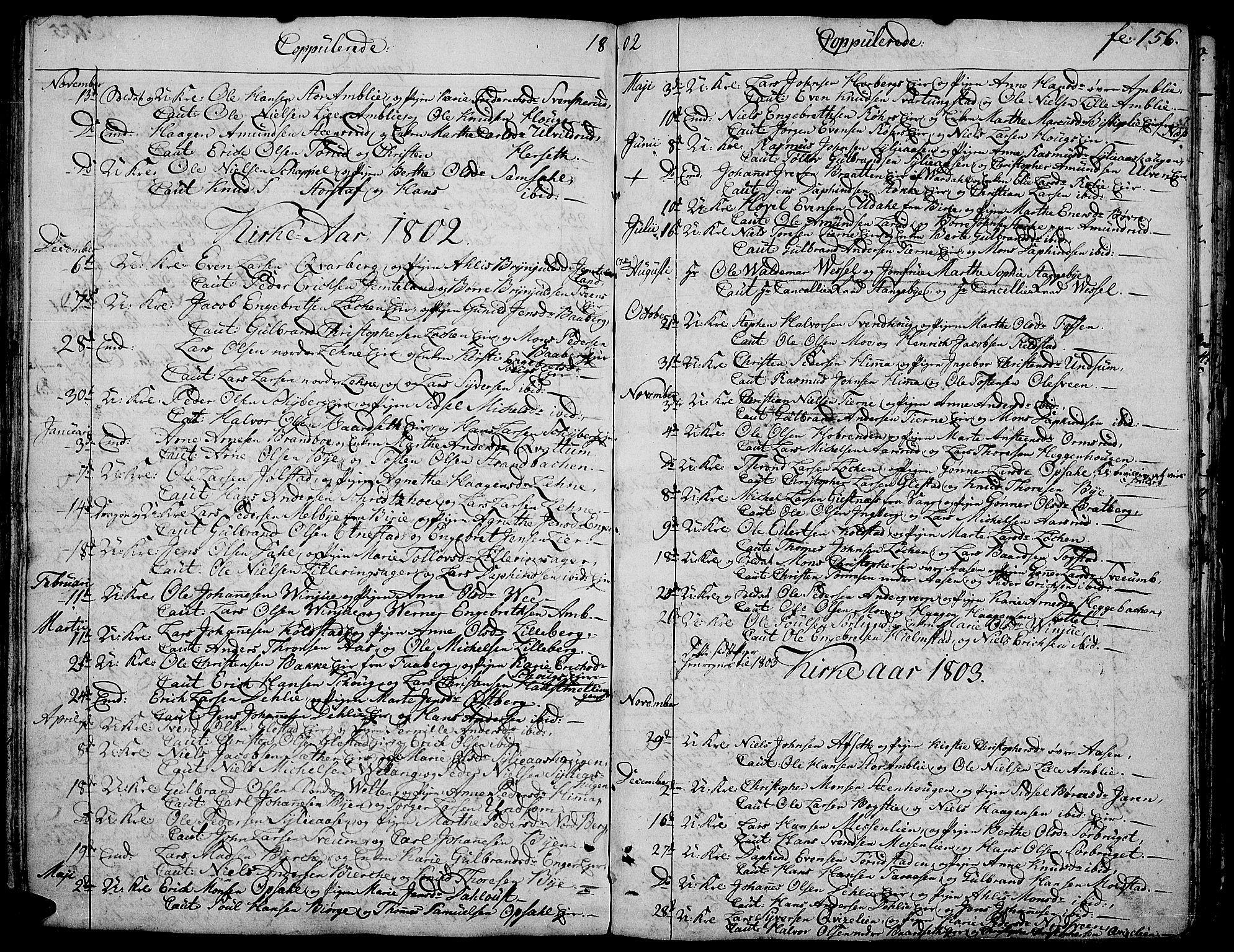 SAH, Ringsaker prestekontor, K/Ka/L0004: Ministerialbok nr. 4, 1799-1814, s. 156