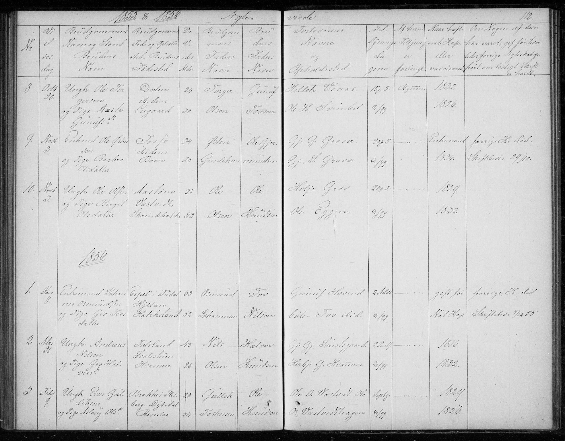 SAKO, Gransherad kirkebøker, F/Fb/L0003: Ministerialbok nr. II 3, 1844-1859, s. 112