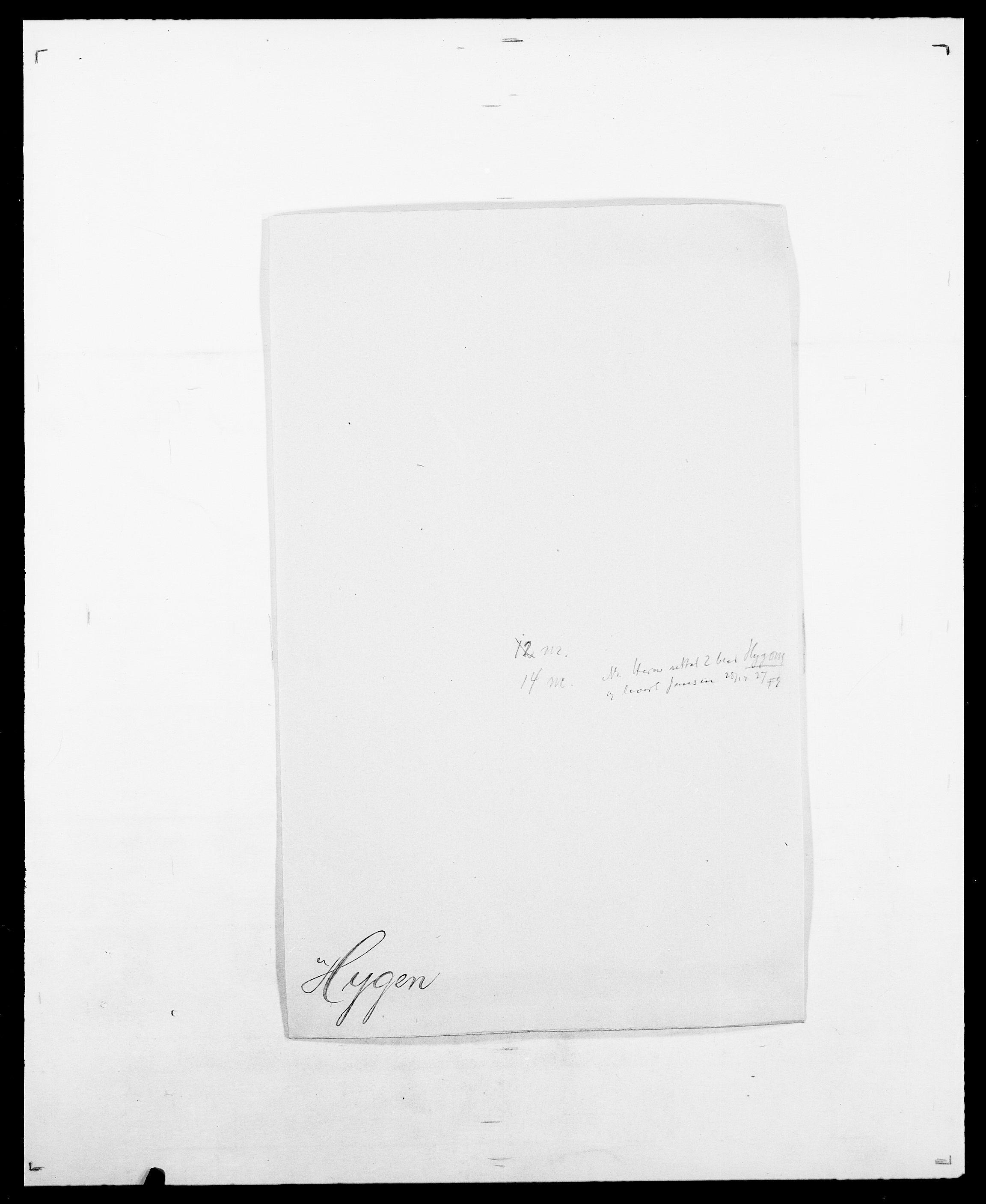 SAO, Delgobe, Charles Antoine - samling, D/Da/L0019: van der Hude - Joys, s. 245