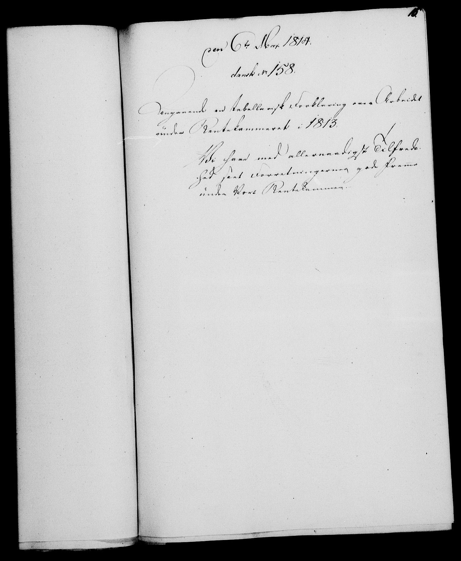 RA, Rentekammeret, Kammerkanselliet, G/Gf/Gfa/L0095: Norsk relasjons- og resolusjonsprotokoll (merket RK 52.95), 1813-1814, s. 609