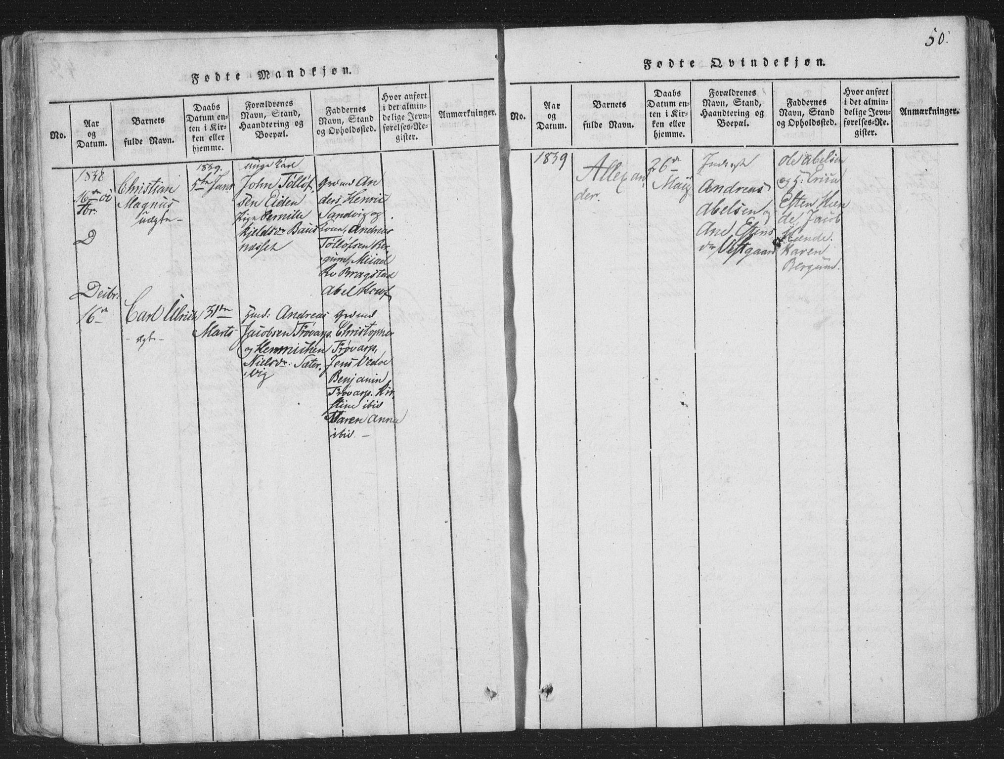 SAT, Ministerialprotokoller, klokkerbøker og fødselsregistre - Nord-Trøndelag, 773/L0613: Ministerialbok nr. 773A04, 1815-1845, s. 50