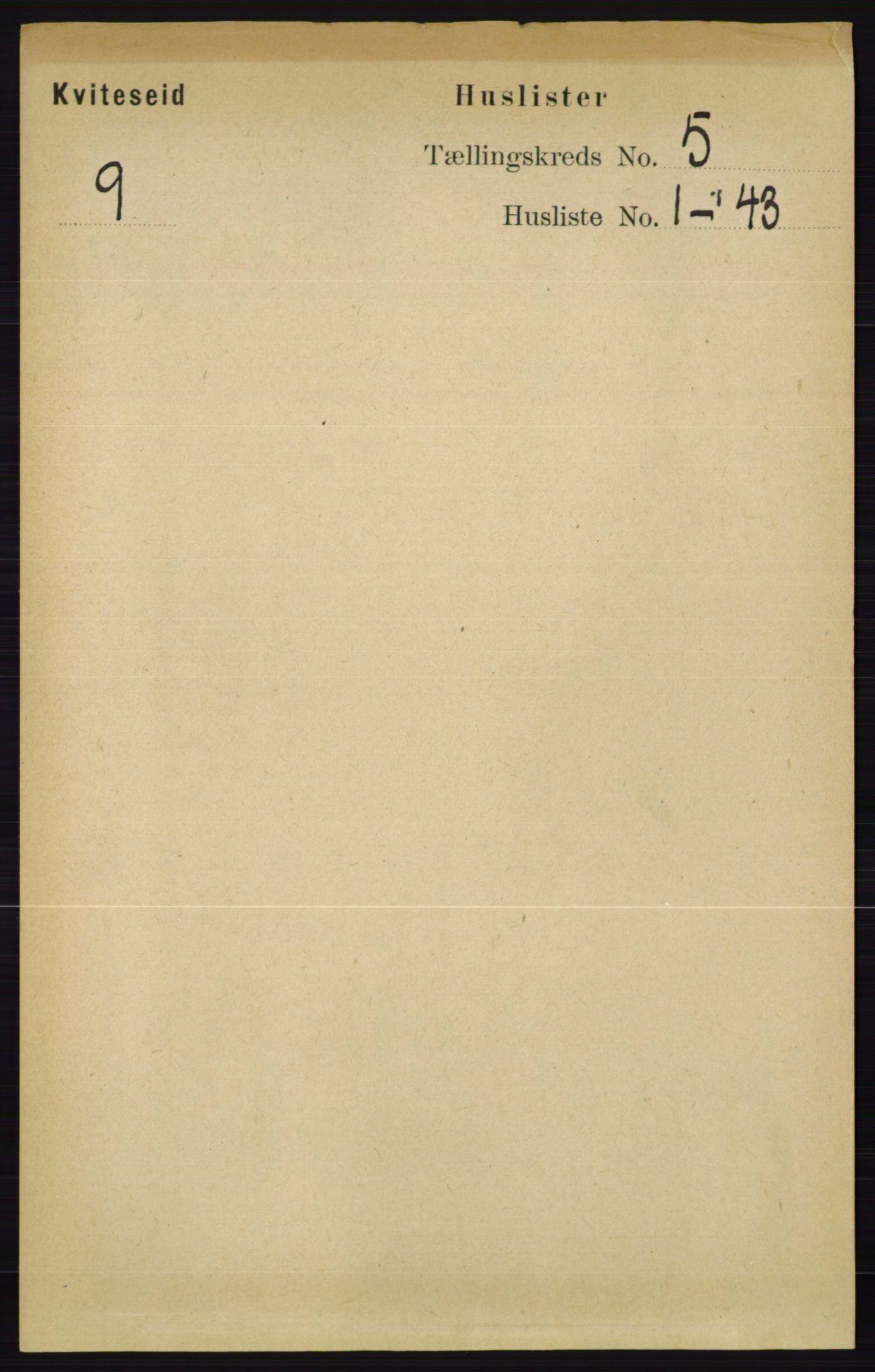 RA, Folketelling 1891 for 0829 Kviteseid herred, 1891, s. 860