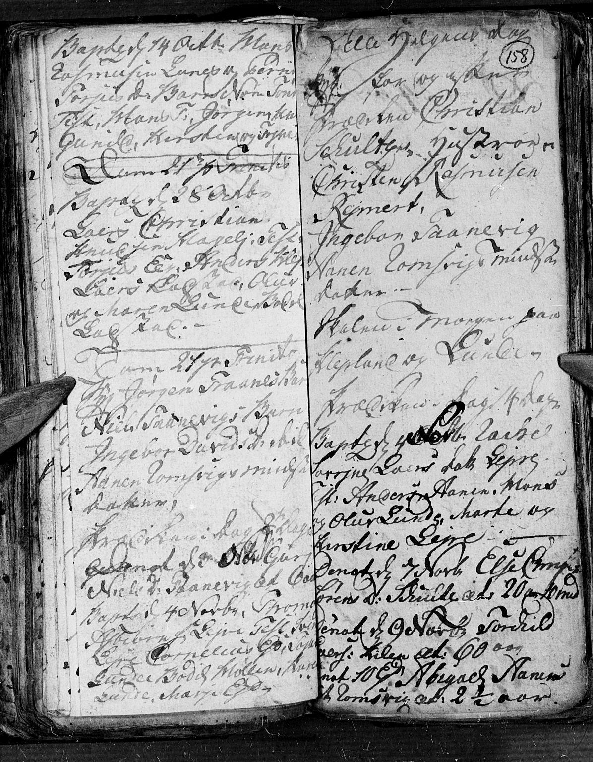 SAK, Søgne sokneprestkontor, F/Fb/Fbb/L0001: Klokkerbok nr. B 1, 1779-1802, s. 158