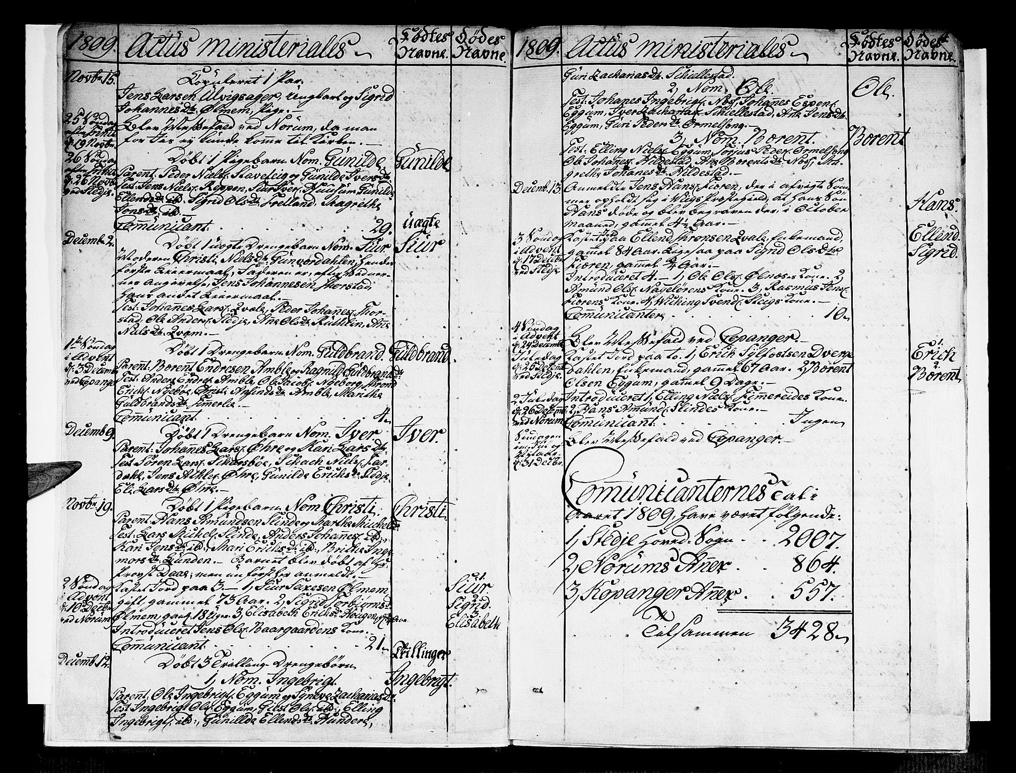 SAB, Sogndal sokneprestembete, H/Haa/Haaa/L0009: Ministerialbok nr. A 9, 1809-1821, s. 4