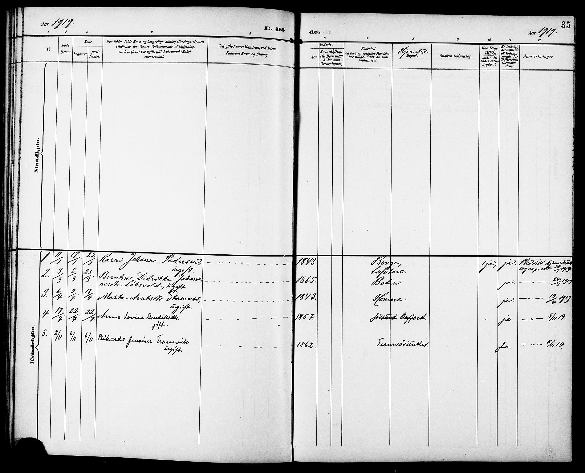 SAT, Ministerialprotokoller, klokkerbøker og fødselsregistre - Sør-Trøndelag, 629/L0486: Ministerialbok nr. 629A02, 1894-1919, s. 35