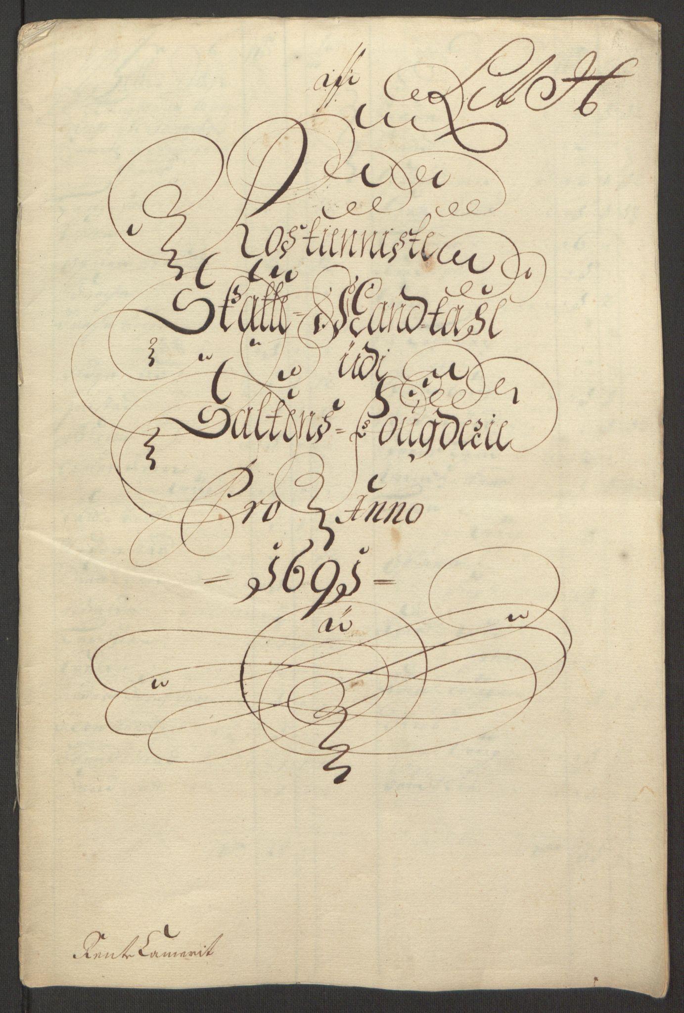 RA, Rentekammeret inntil 1814, Reviderte regnskaper, Fogderegnskap, R66/L4577: Fogderegnskap Salten, 1691-1693, s. 98