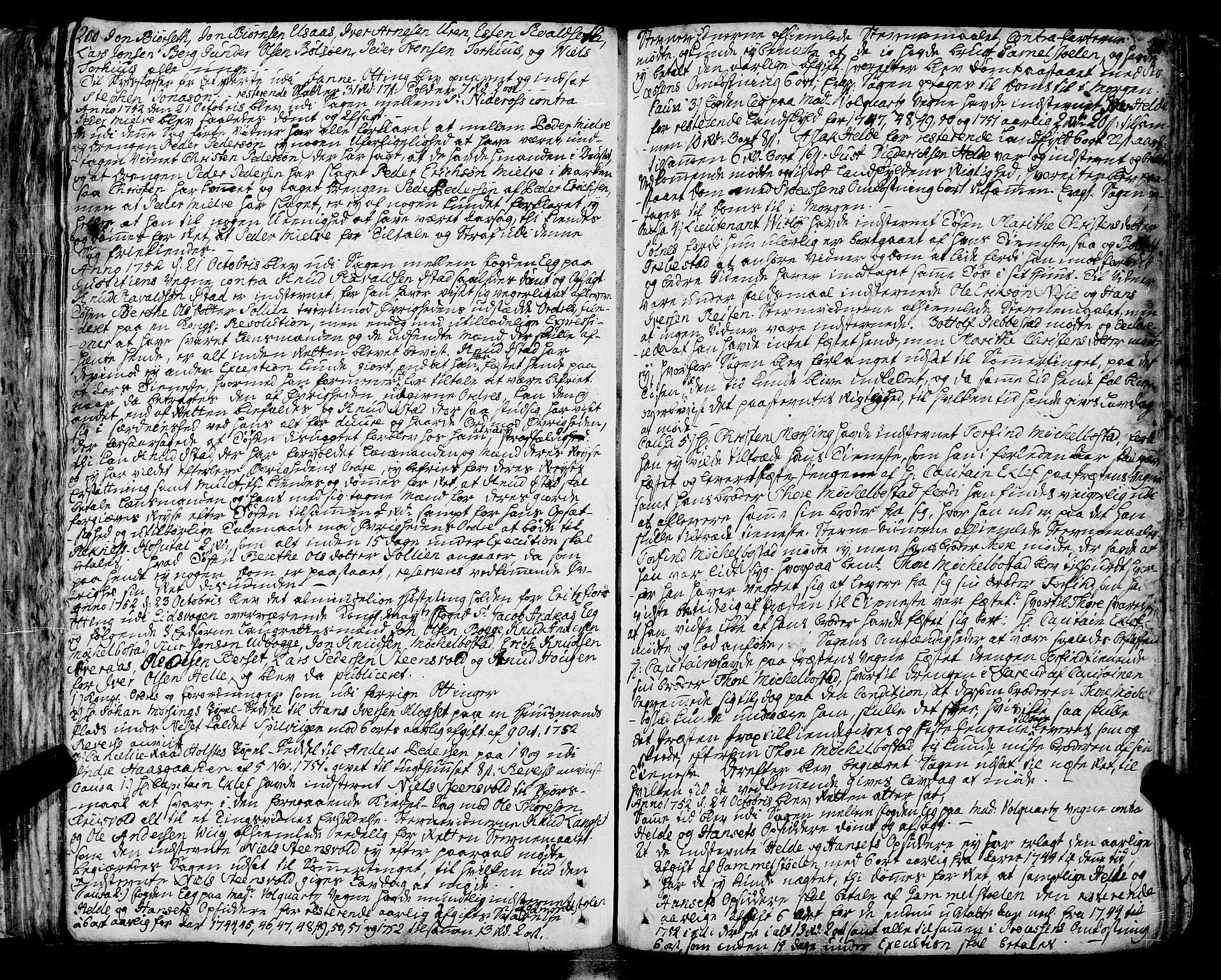 SAT, Romsdal sorenskriveri, 1/1A/L0013: Tingbok, 1749-1757, s. 200-201