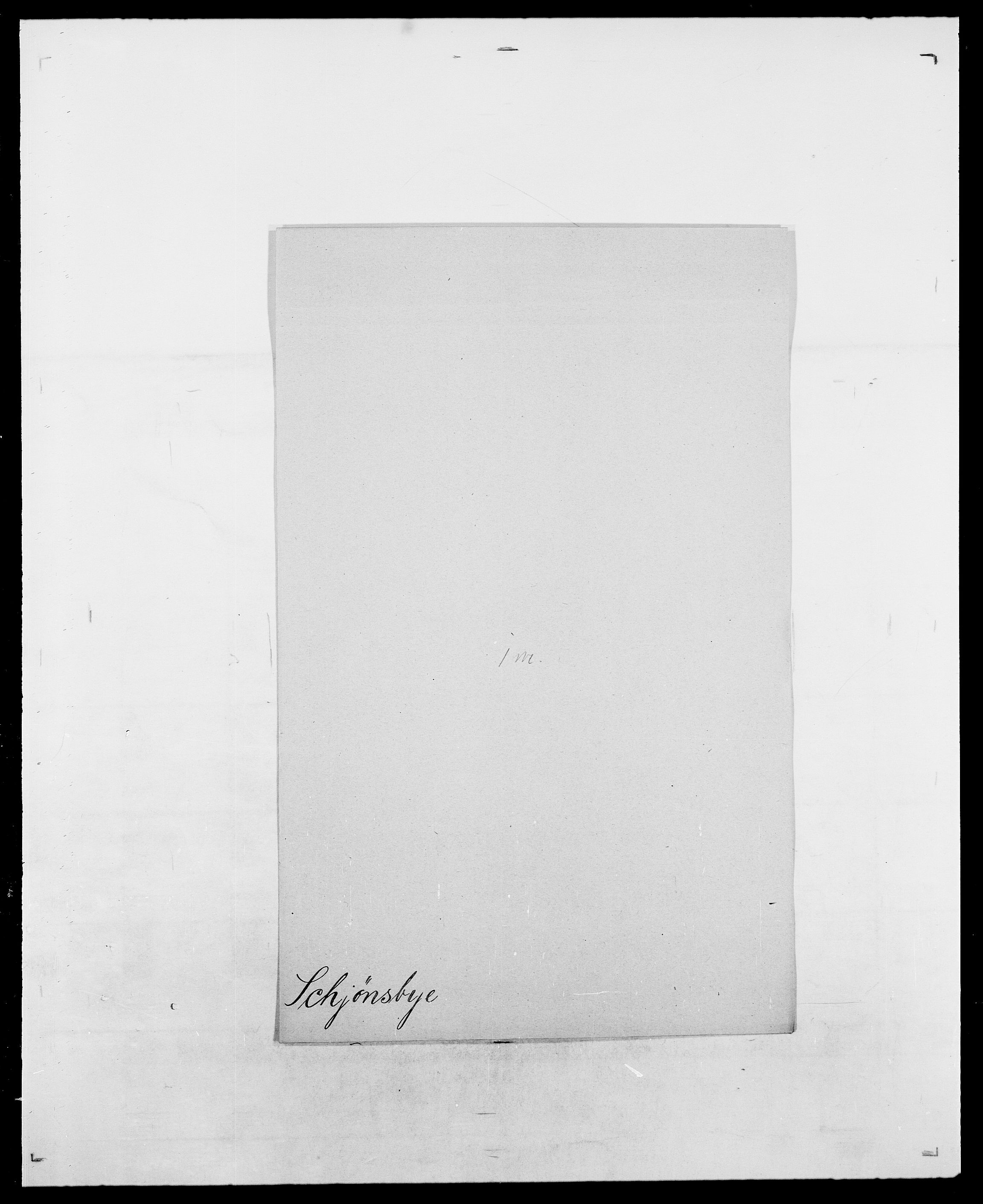 SAO, Delgobe, Charles Antoine - samling, D/Da/L0034: Saabye - Schmincke, s. 807
