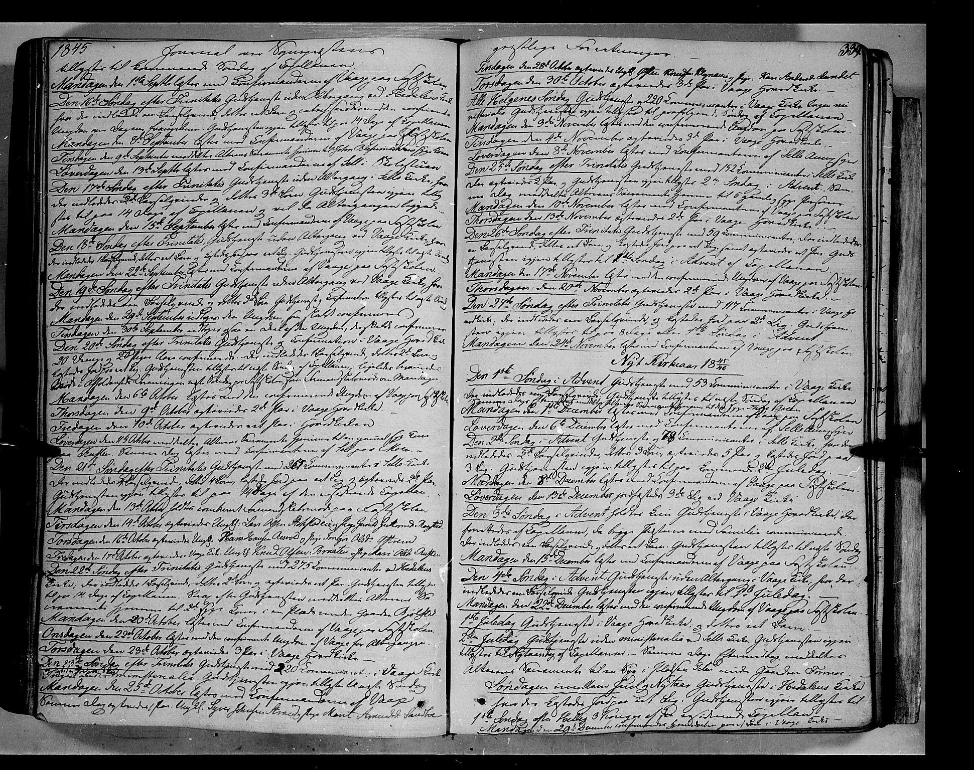 SAH, Vågå prestekontor, Ministerialbok nr. 5 /1, 1842-1856, s. 339