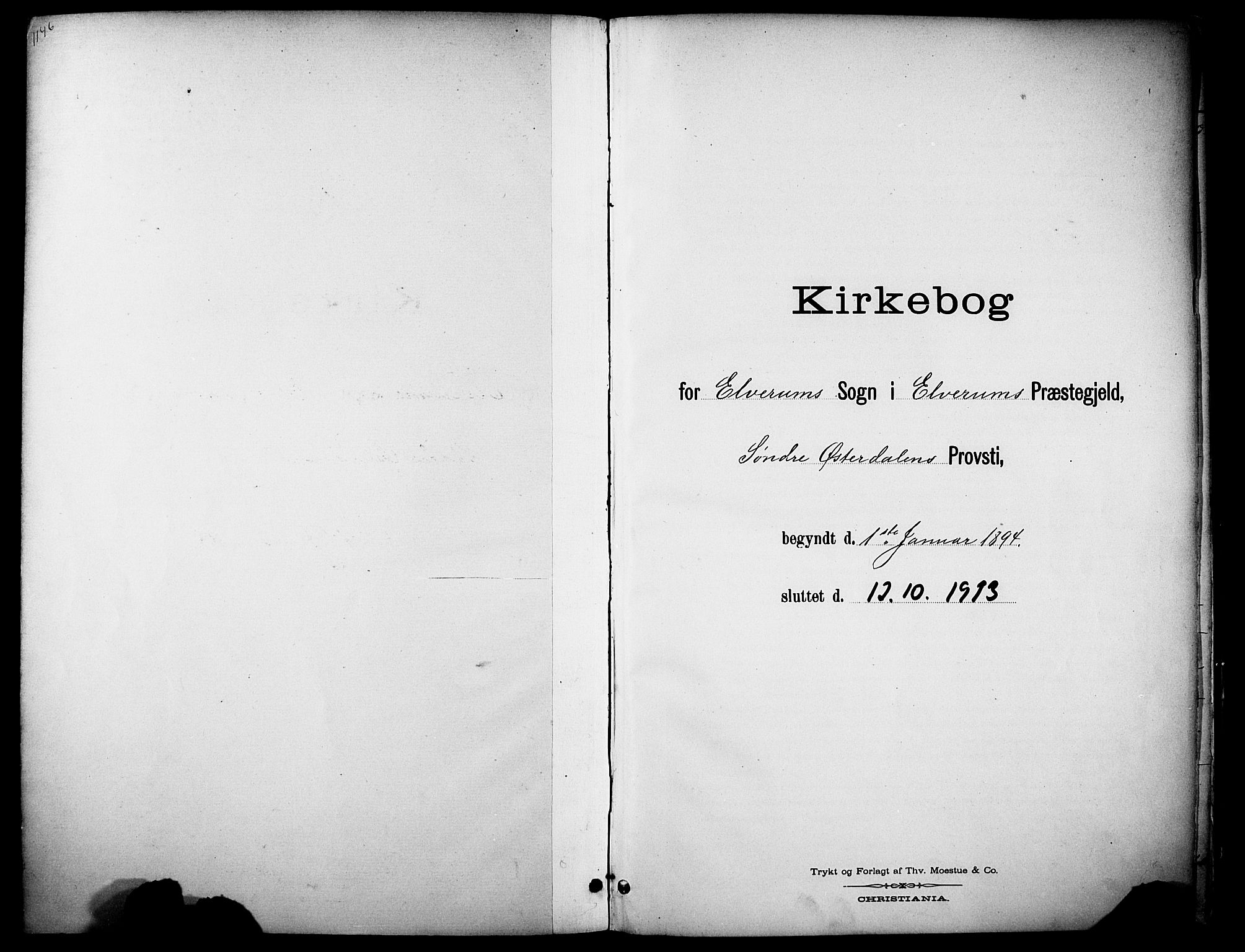 SAH, Elverum prestekontor, H/Ha/Haa/L0015: Ministerialbok nr. 15, 1893-1913