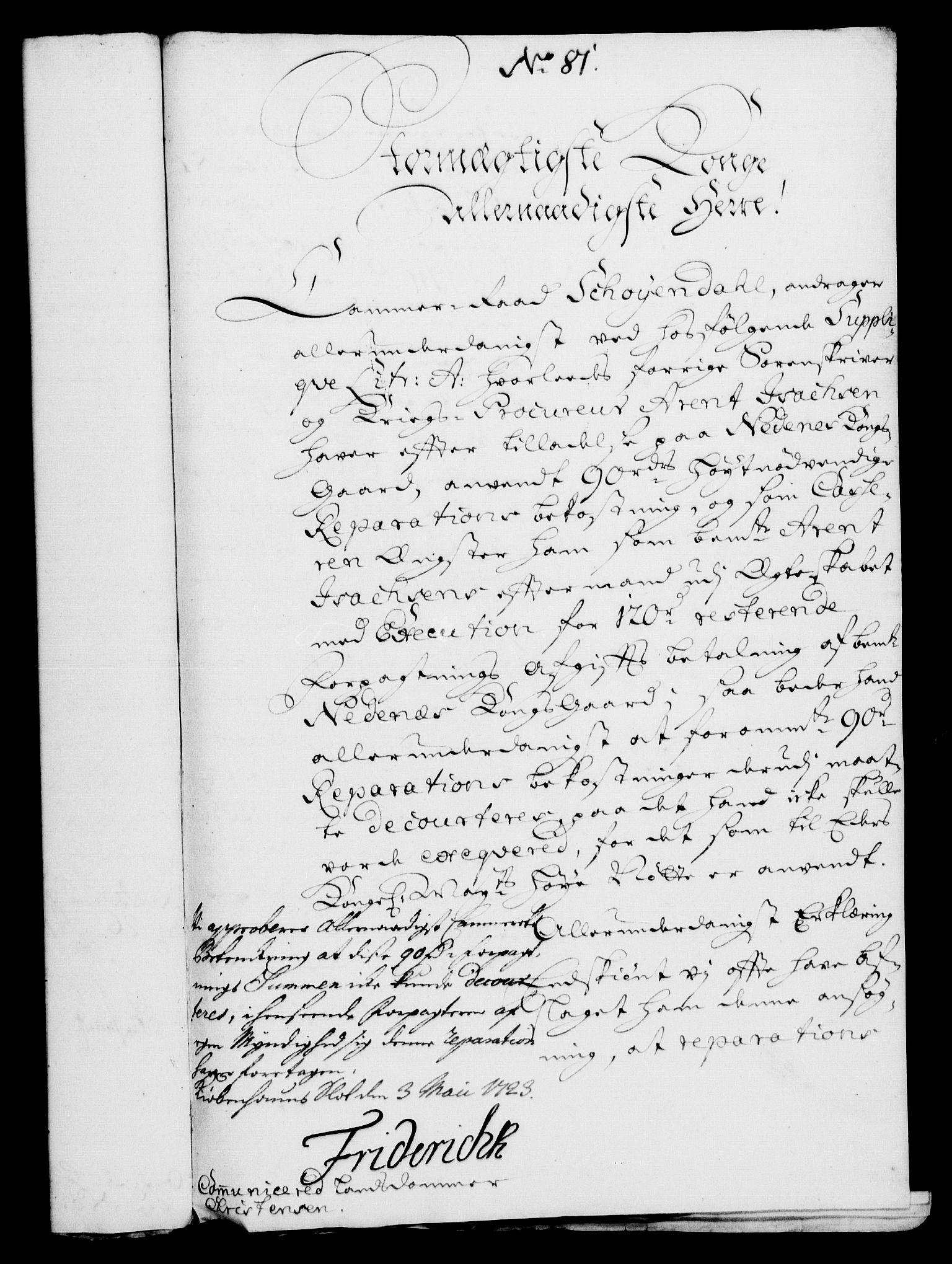 RA, Rentekammeret, Kammerkanselliet, G/Gf/Gfa/L0006: Norsk relasjons- og resolusjonsprotokoll (merket RK 52.6), 1723, s. 534
