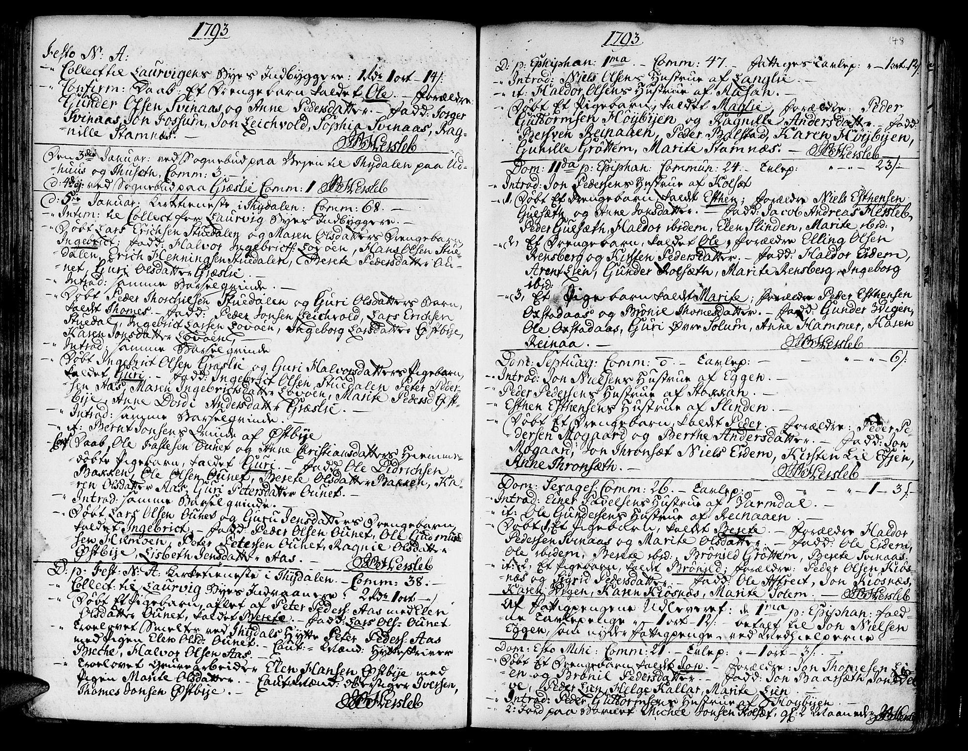 SAT, Ministerialprotokoller, klokkerbøker og fødselsregistre - Sør-Trøndelag, 695/L1138: Ministerialbok nr. 695A02 /1, 1757-1801, s. 148