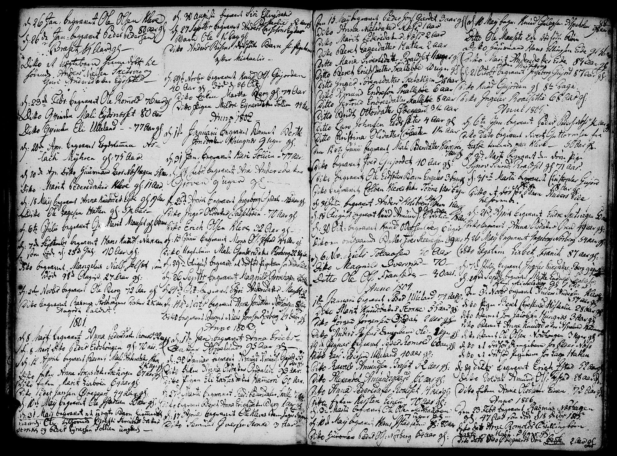 SAT, Ministerialprotokoller, klokkerbøker og fødselsregistre - Møre og Romsdal, 555/L0650: Ministerialbok nr. 555A02 /2, 1798-1821, s. 88