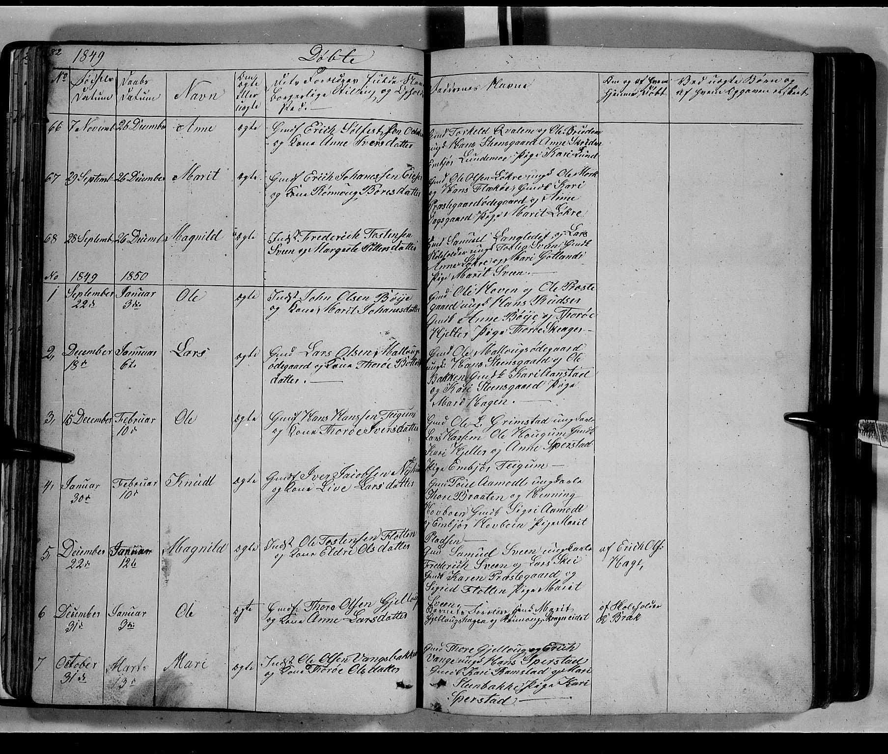 SAH, Lom prestekontor, L/L0004: Klokkerbok nr. 4, 1845-1864, s. 82-83