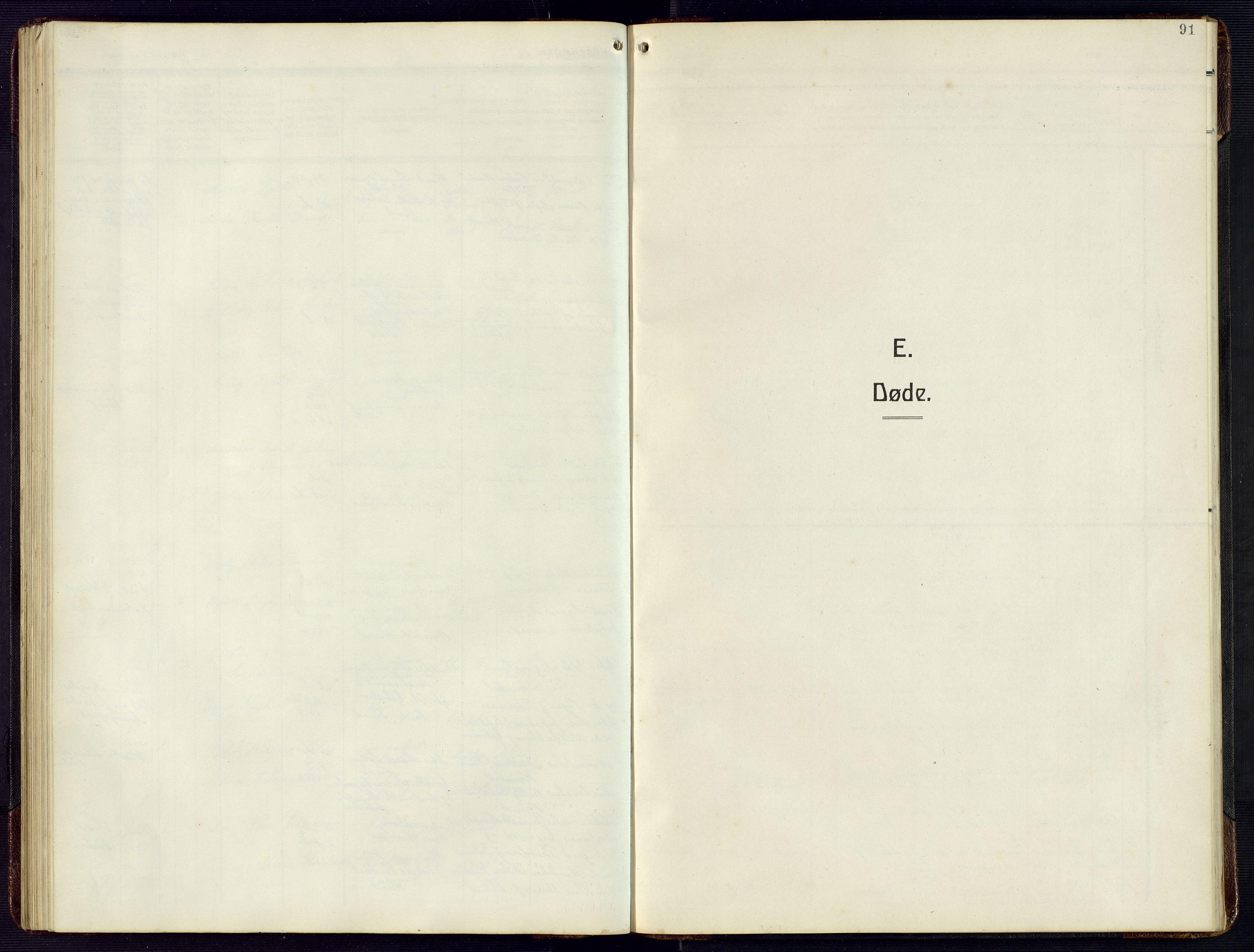 SAK, Herad sokneprestkontor, F/Fb/Fba/L0006: Klokkerbok nr. B 6, 1921-1959, s. 91