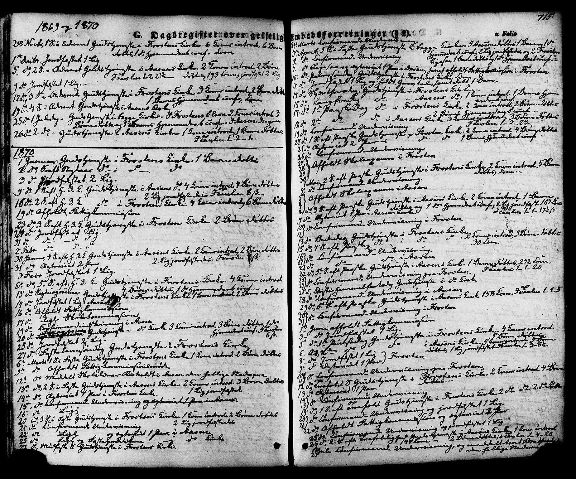SAT, Ministerialprotokoller, klokkerbøker og fødselsregistre - Nord-Trøndelag, 713/L0116: Ministerialbok nr. 713A07 /1, 1850-1877, s. 715