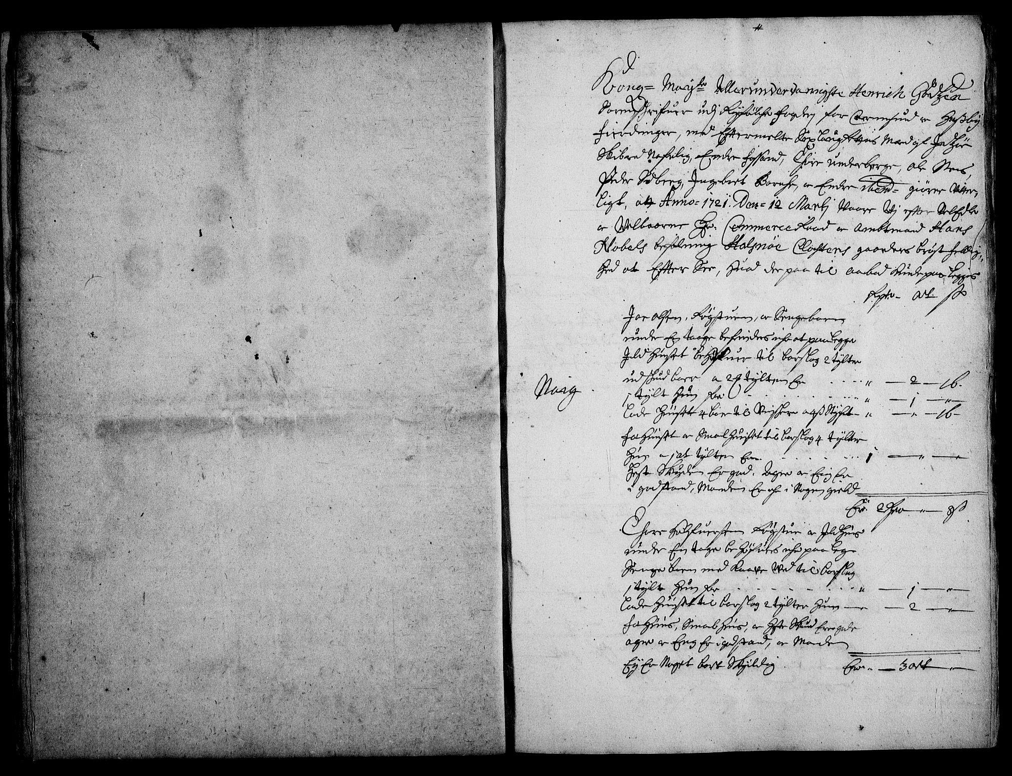 RA, Rentekammeret inntil 1814, Realistisk ordnet avdeling, On/L0003: [Jj 4]: Kommisjonsforretning over Vilhelm Hanssøns forpaktning av Halsnøy klosters gods, 1721-1729, s. 109
