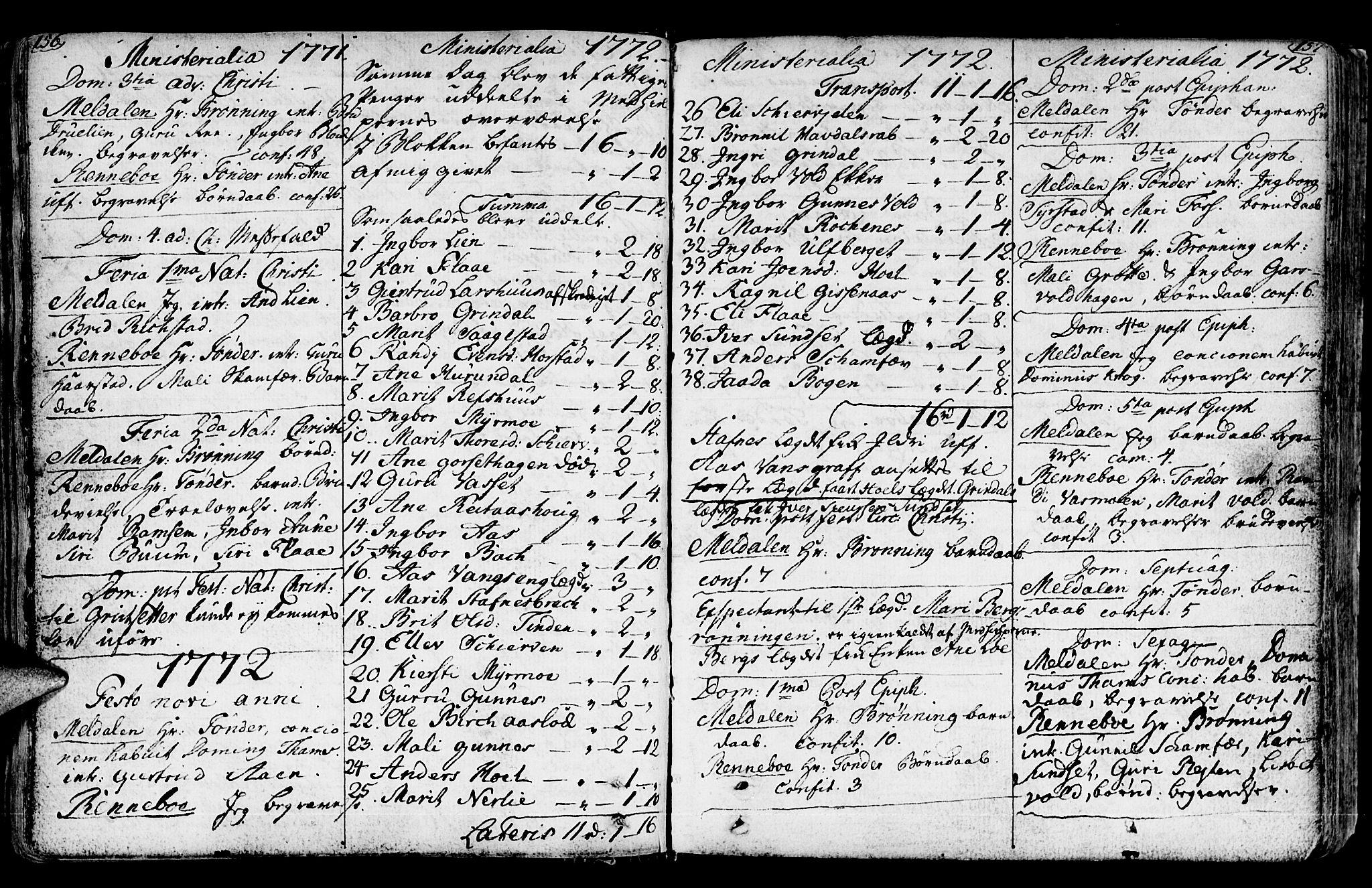 SAT, Ministerialprotokoller, klokkerbøker og fødselsregistre - Sør-Trøndelag, 672/L0851: Ministerialbok nr. 672A04, 1751-1775, s. 156-157