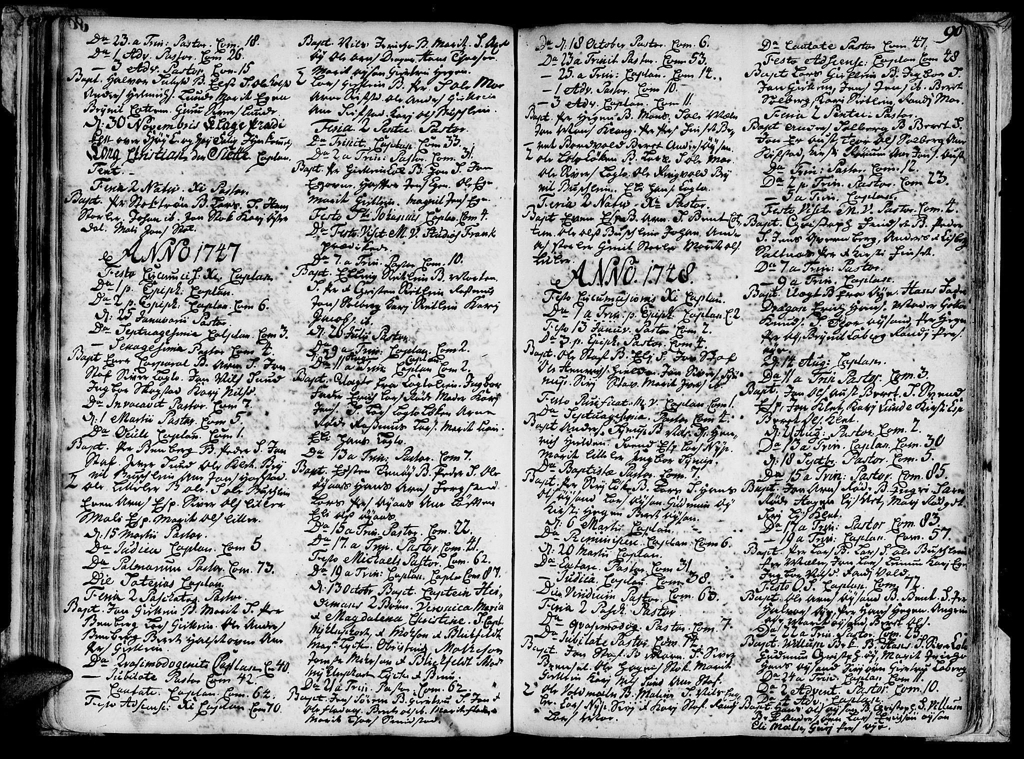 SAT, Ministerialprotokoller, klokkerbøker og fødselsregistre - Sør-Trøndelag, 691/L1059: Ministerialbok nr. 691A01 /3, 1740-1767, s. 90