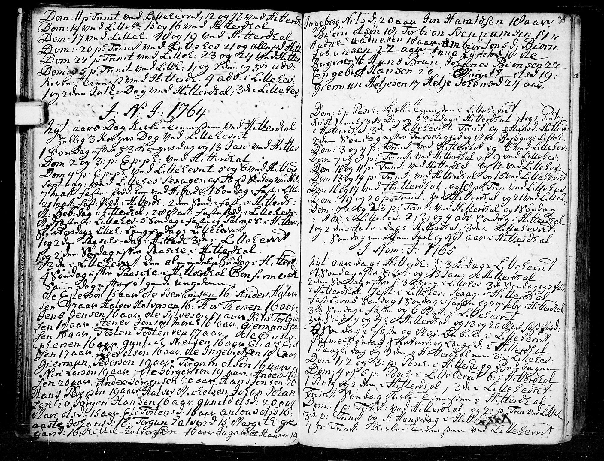 SAKO, Heddal kirkebøker, F/Fa/L0003: Ministerialbok nr. I 3, 1723-1783, s. 38