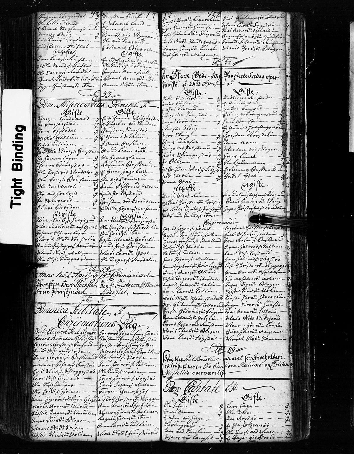 SAH, Fåberg prestekontor, Klokkerbok nr. 2, 1741-1756, s. 426-427