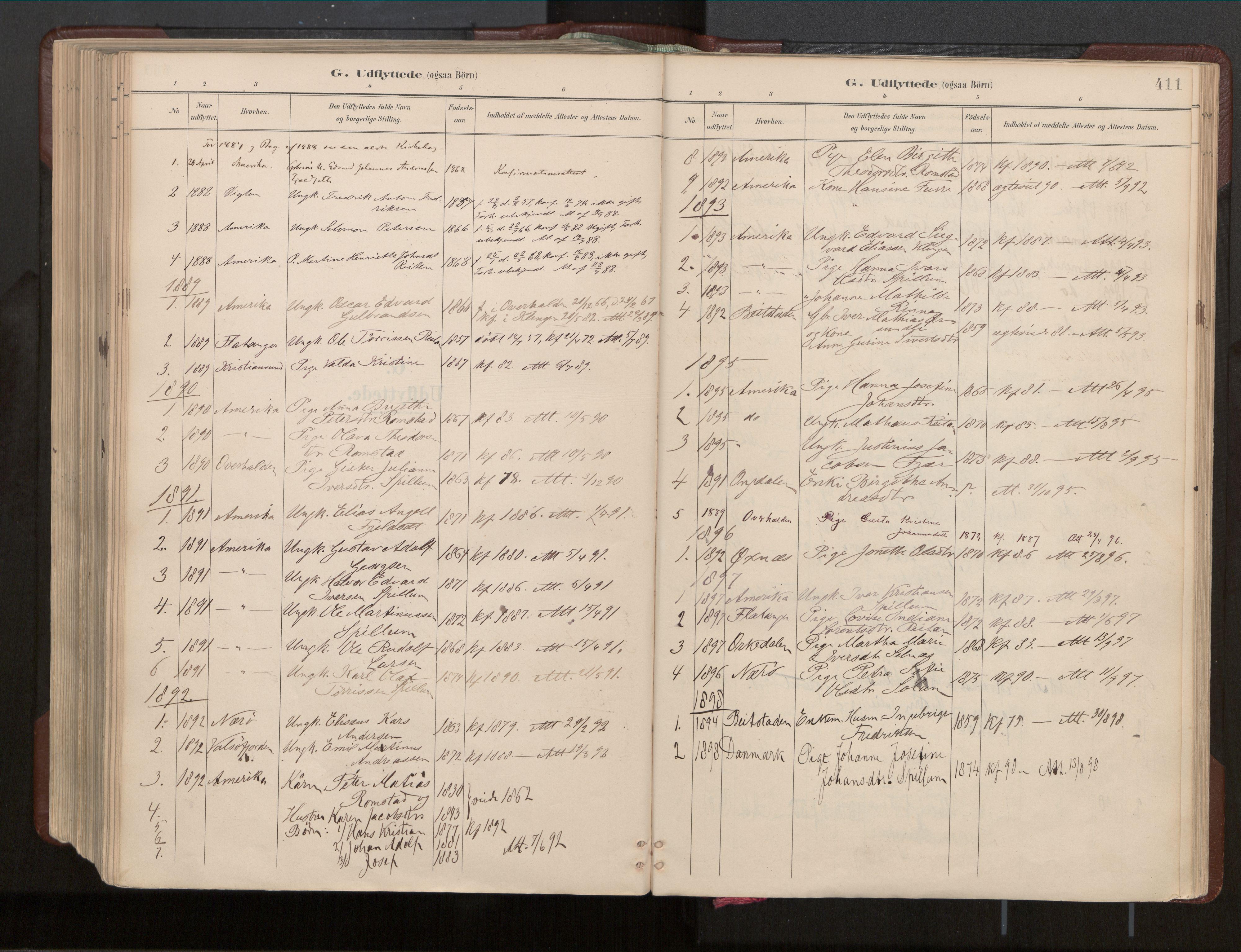 SAT, Ministerialprotokoller, klokkerbøker og fødselsregistre - Nord-Trøndelag, 770/L0589: Ministerialbok nr. 770A03, 1887-1929, s. 411