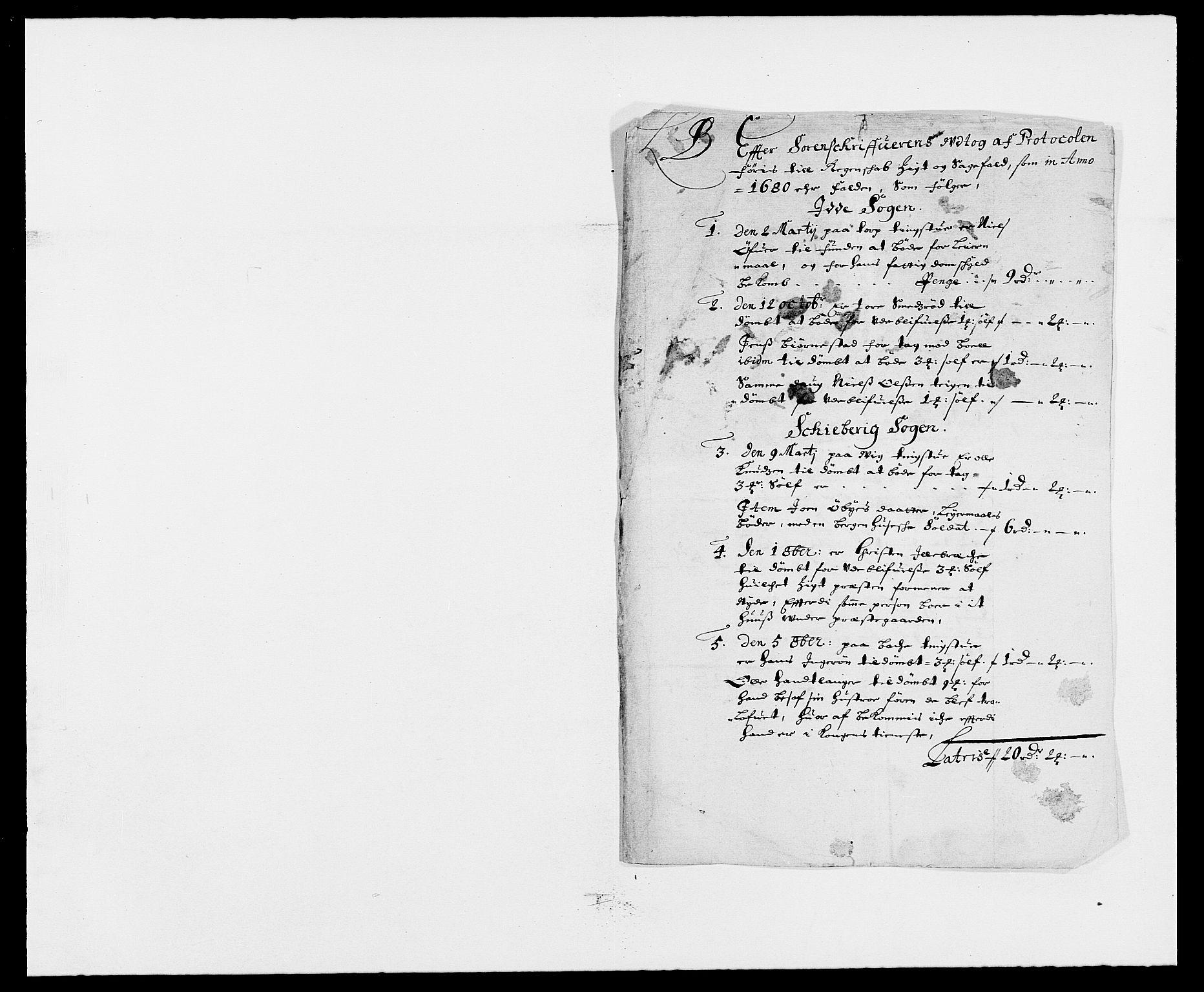 RA, Rentekammeret inntil 1814, Reviderte regnskaper, Fogderegnskap, R01/L0002: Fogderegnskap Idd og Marker, 1680-1681, s. 104