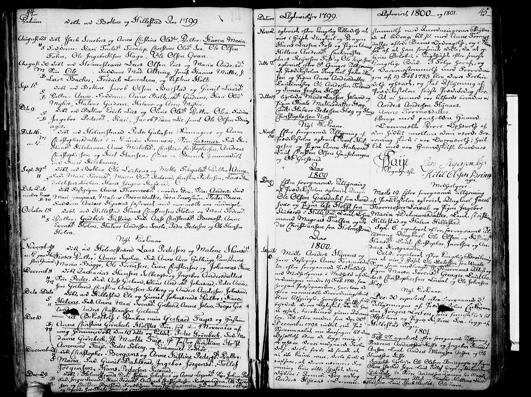 SAKO, Botne kirkebøker, F/Fa/L0003: Ministerialbok nr. I 3 /1, 1792-1844, s. 44-45