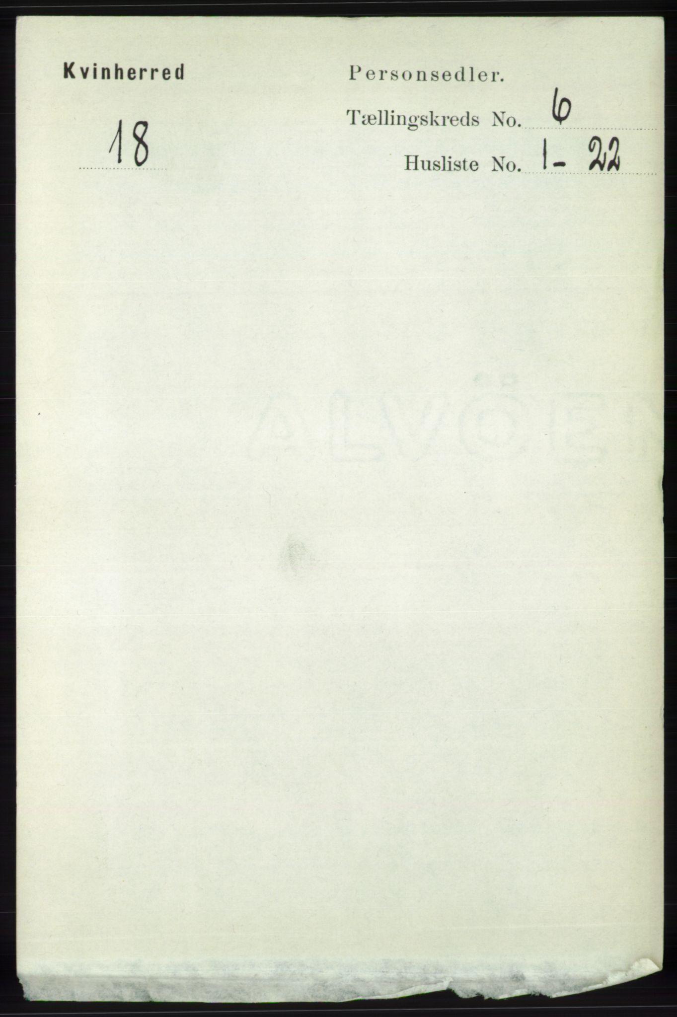RA, Folketelling 1891 for 1224 Kvinnherad herred, 1891, s. 2120