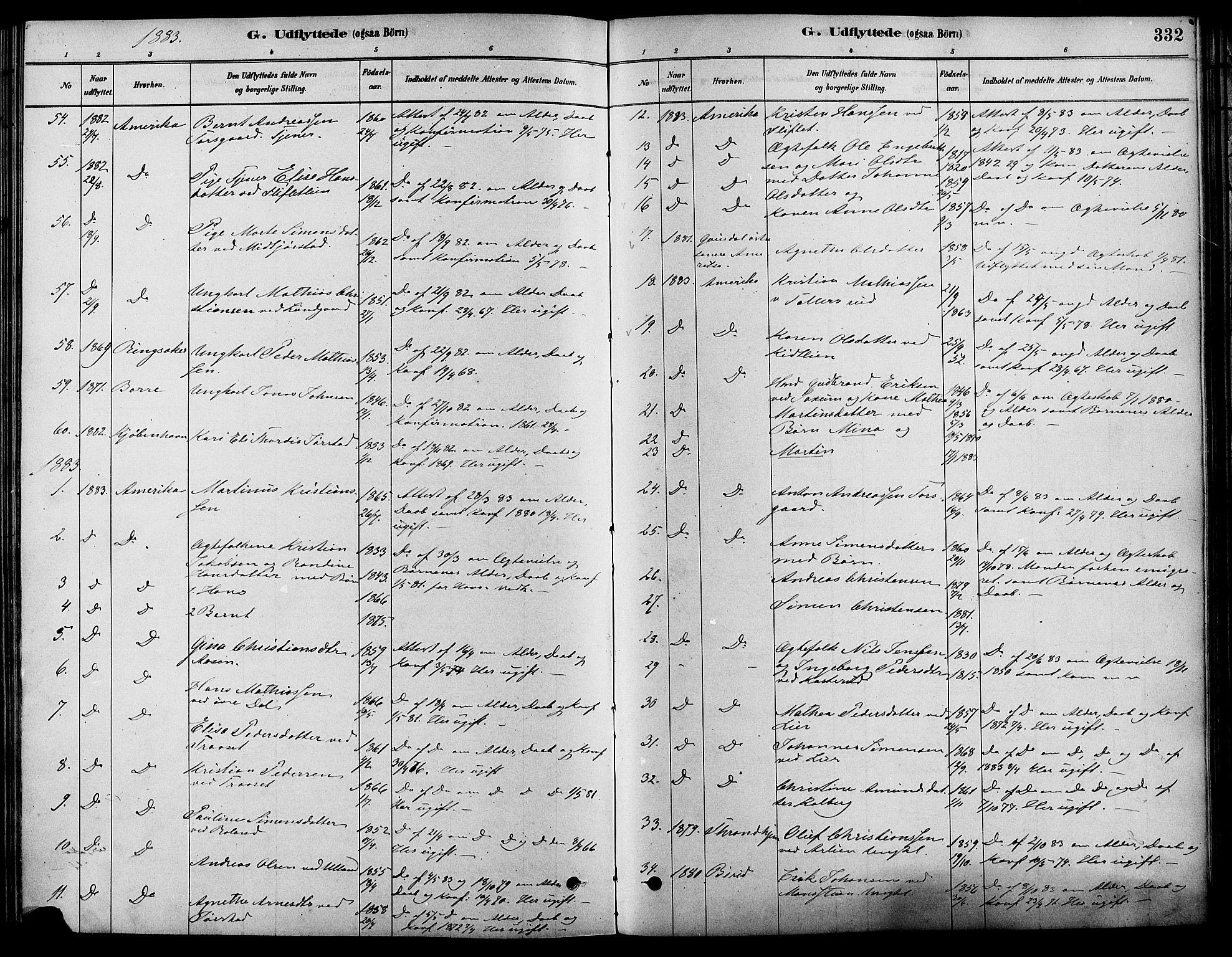 SAH, Fåberg prestekontor, Ministerialbok nr. 8, 1879-1898, s. 332