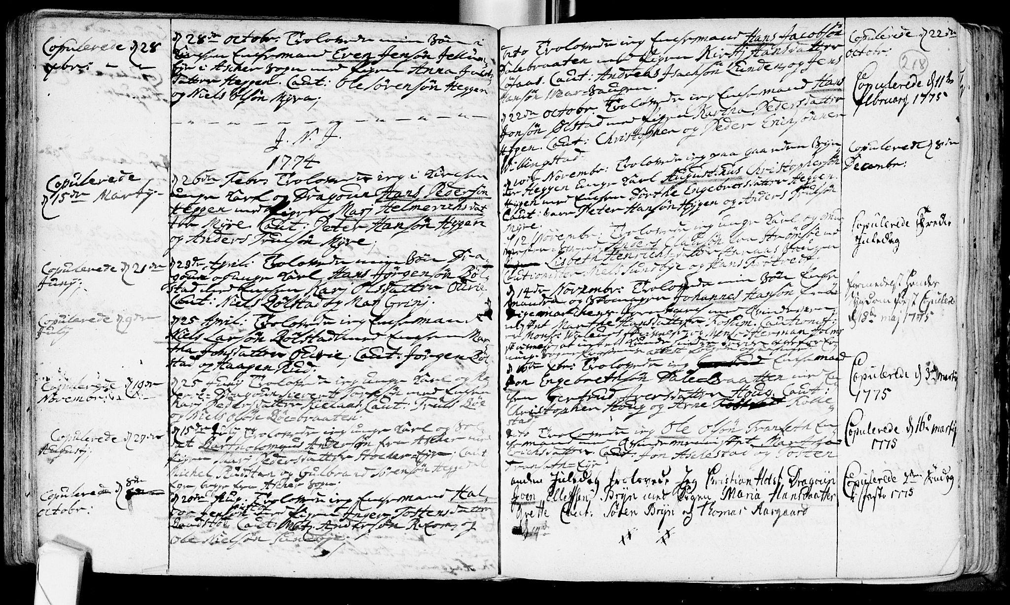 SAKO, Røyken kirkebøker, F/Fa/L0002: Ministerialbok nr. 2, 1731-1782, s. 218