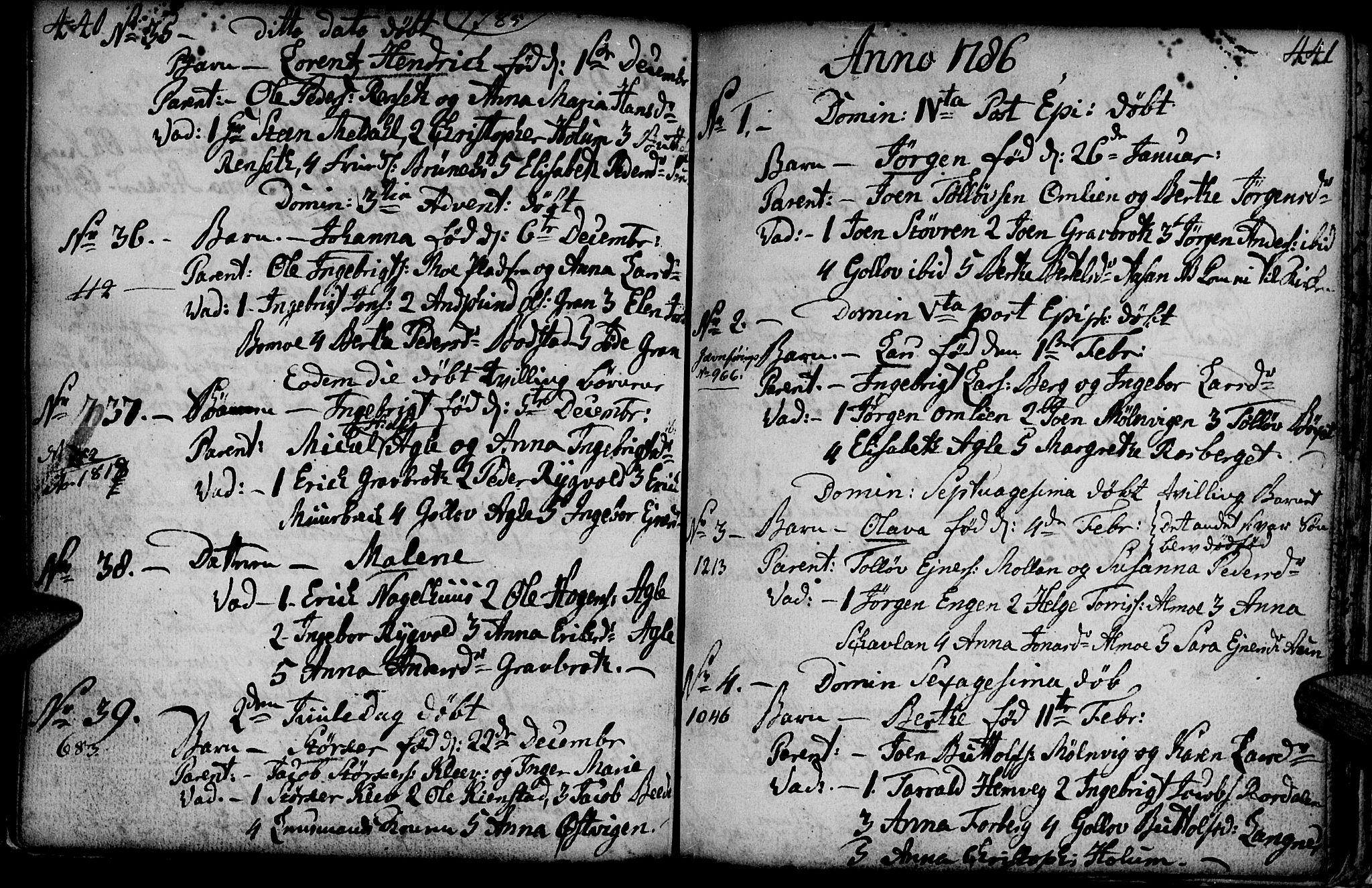 SAT, Ministerialprotokoller, klokkerbøker og fødselsregistre - Nord-Trøndelag, 749/L0467: Ministerialbok nr. 749A01, 1733-1787, s. 440-441