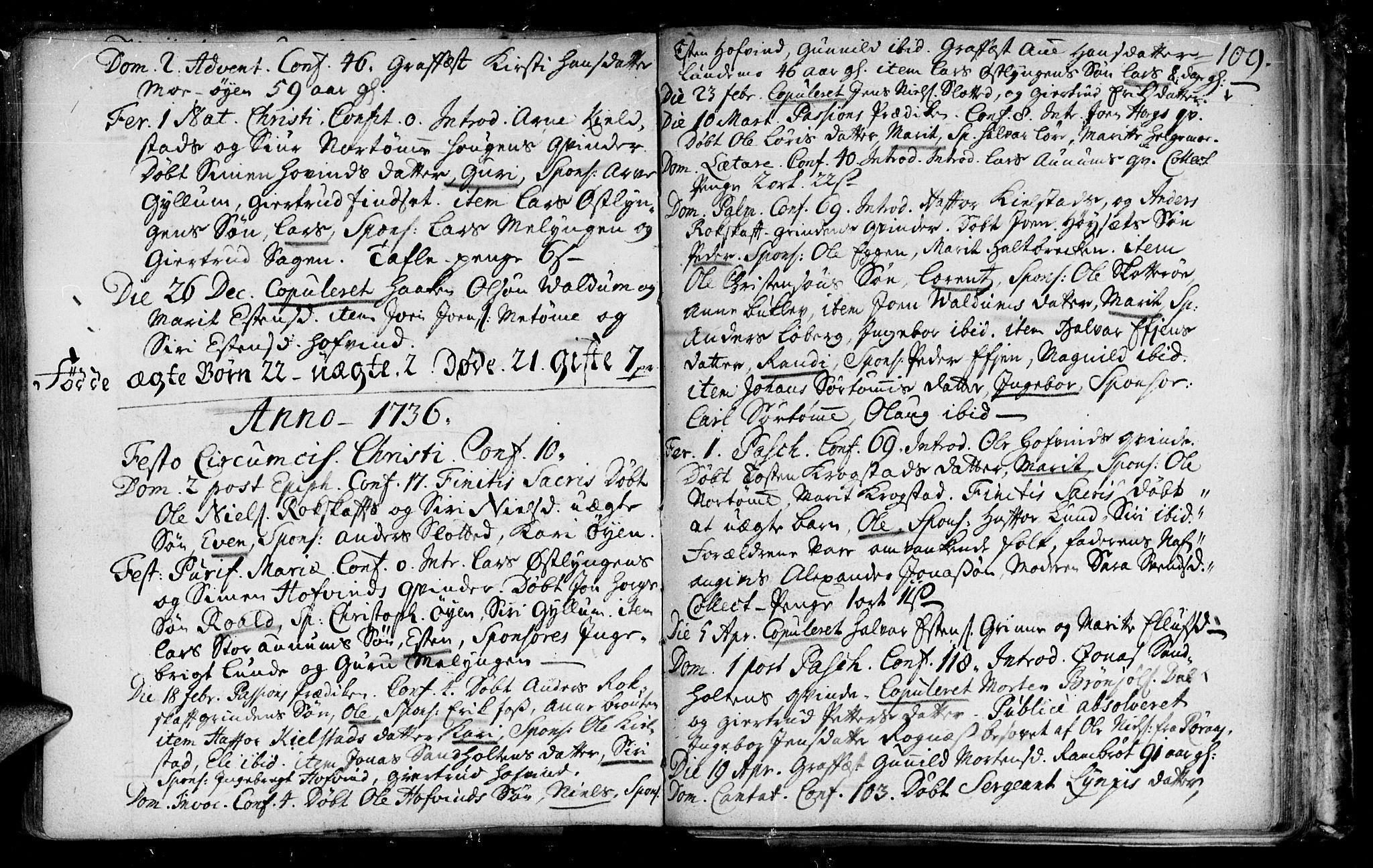 SAT, Ministerialprotokoller, klokkerbøker og fødselsregistre - Sør-Trøndelag, 692/L1101: Ministerialbok nr. 692A01, 1690-1746, s. 109